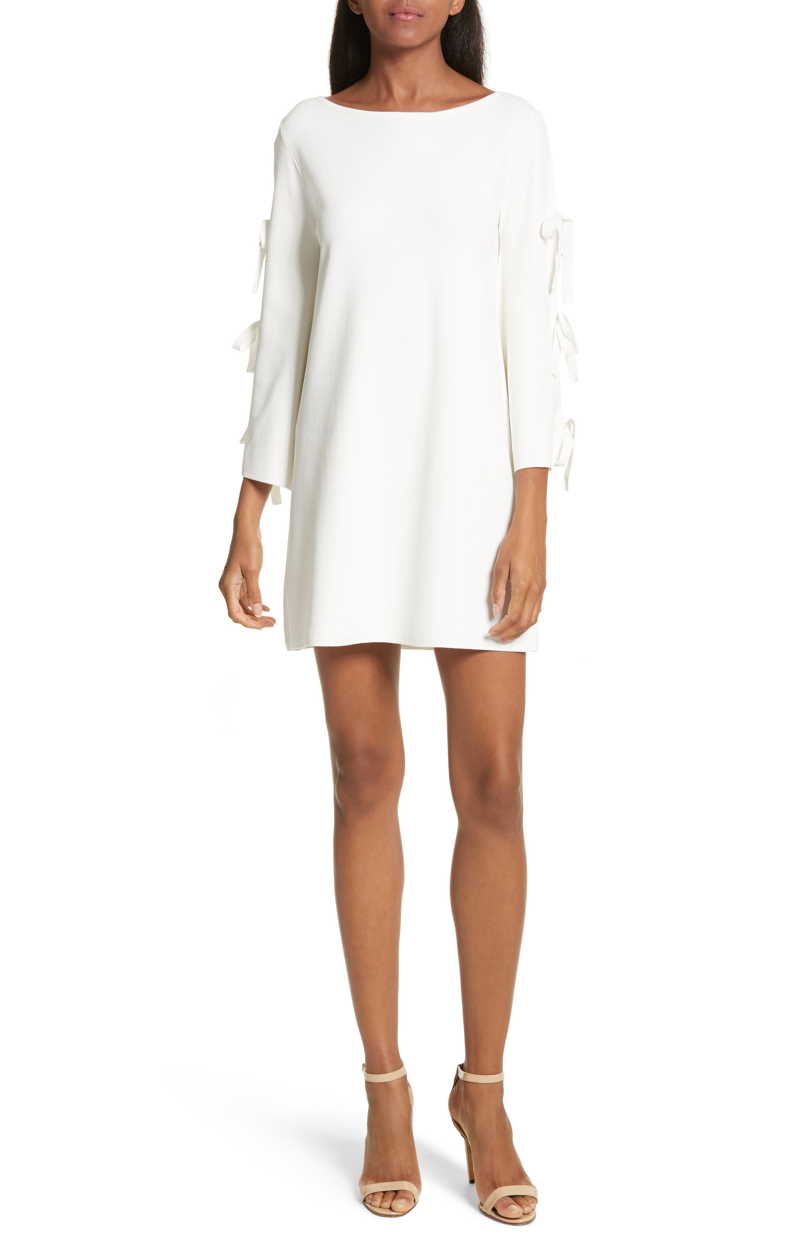 Tied Bell Sleeve Shift Dress,                         Main,                         color, 150
