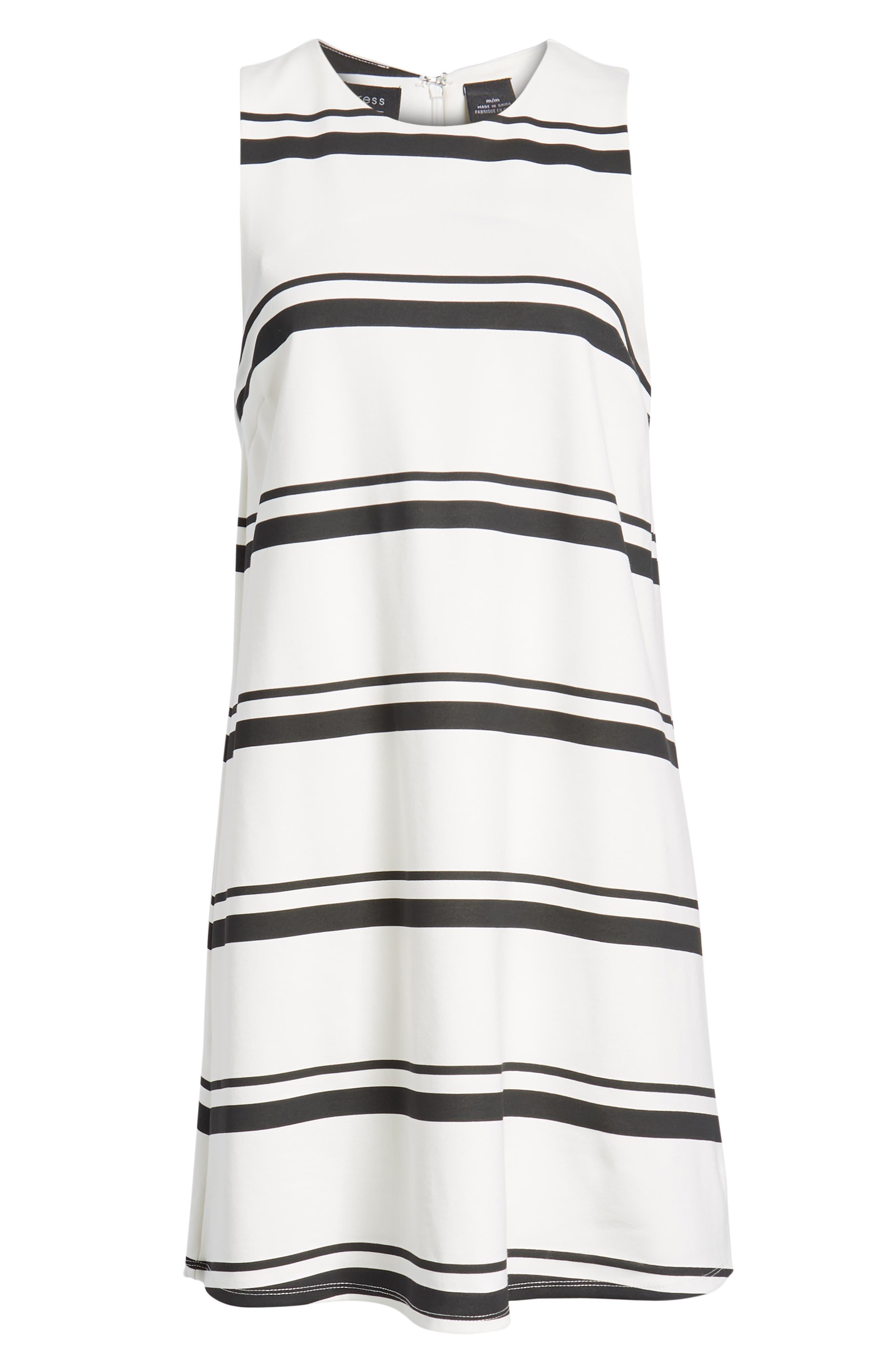 Stripe Swing Dress,                             Alternate thumbnail 7, color,                             001