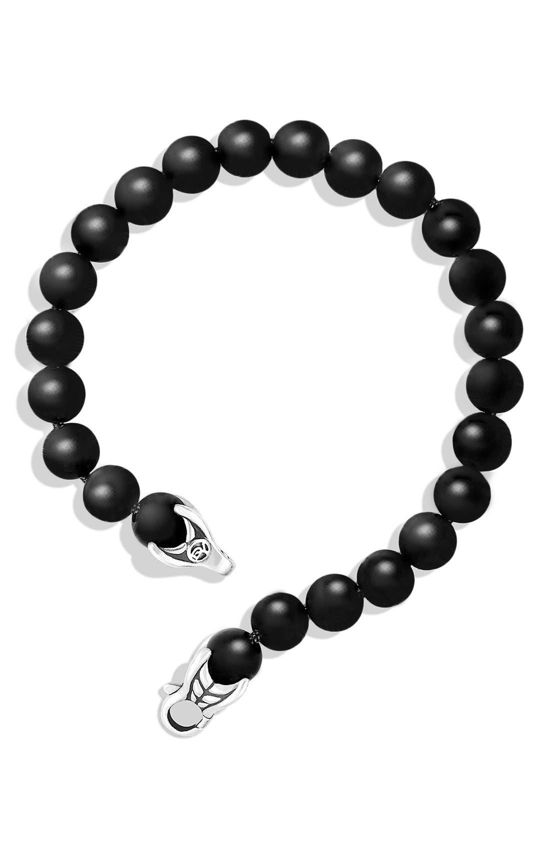 'Spiritual Beads' Bracelet,                             Alternate thumbnail 3, color,                             BLACK ONYX