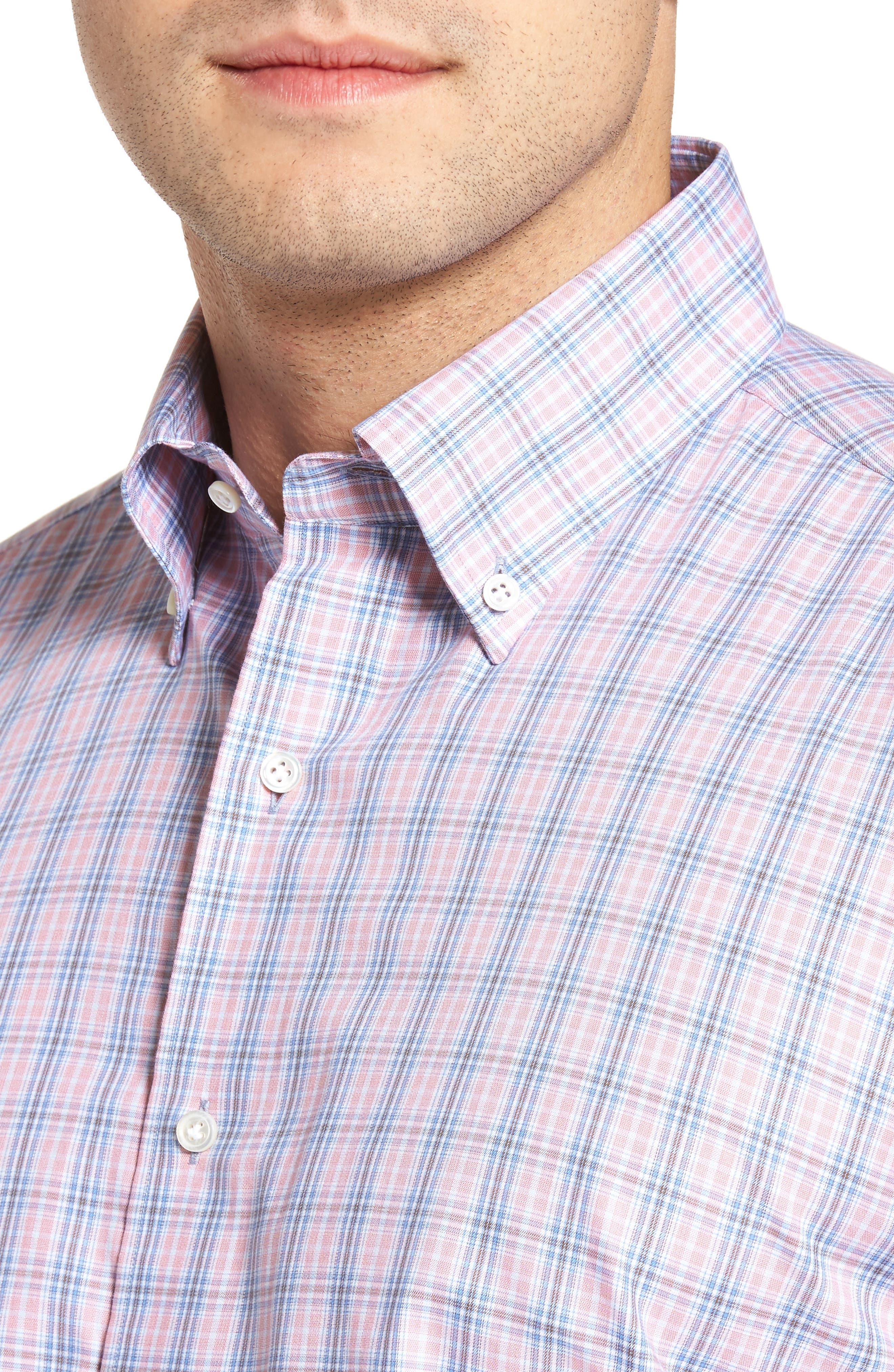 Peter Millar Desert Check Regular Fit Sport Shirt,                             Alternate thumbnail 4, color,                             617