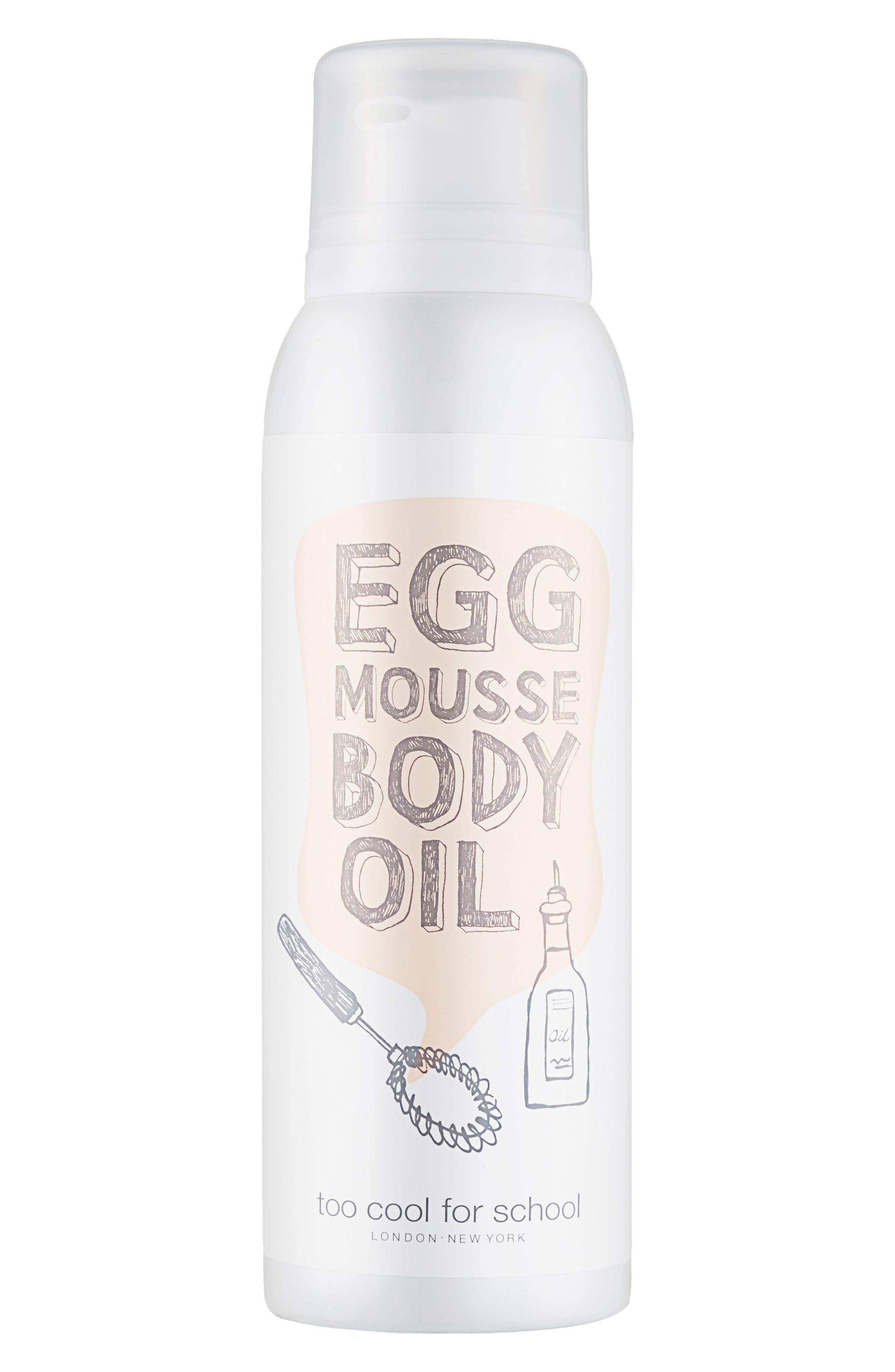 TOO COOL FOR SCHOOL,                             Egg Mousse Body Oil,                             Main thumbnail 1, color,                             000