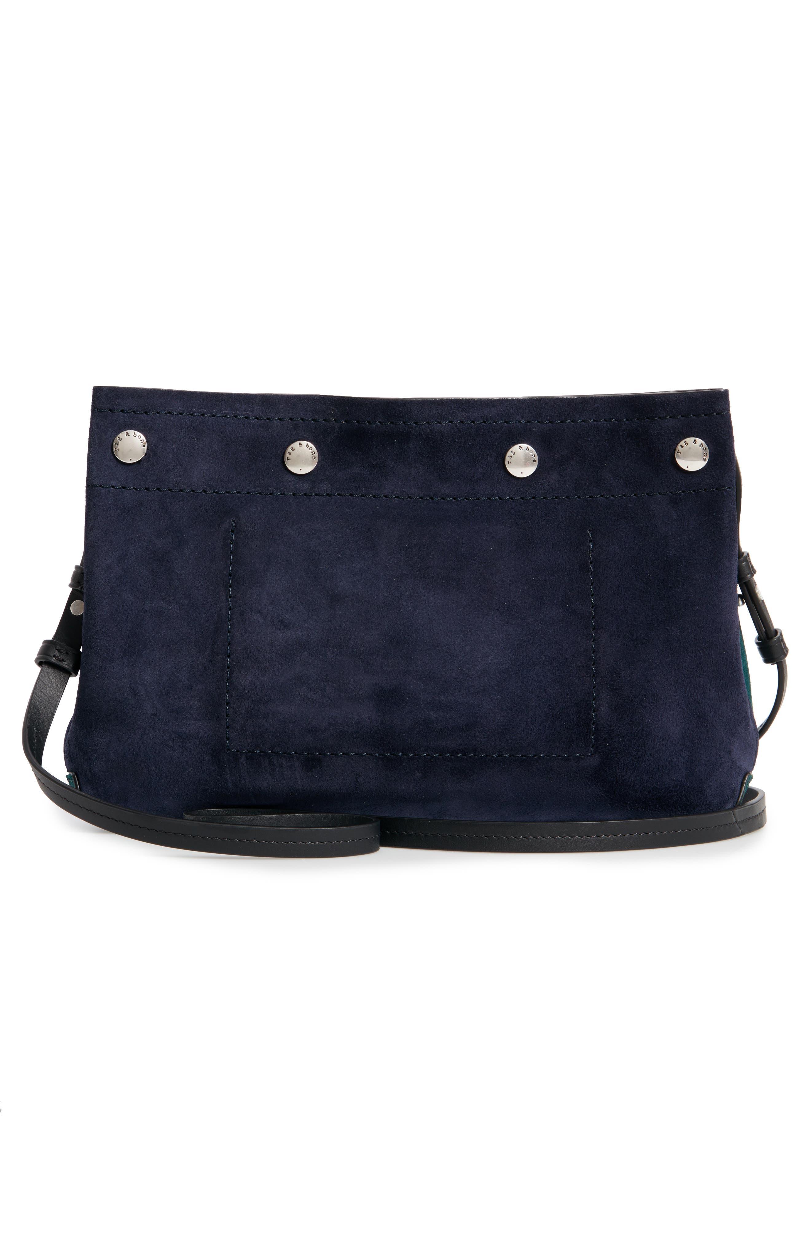 RAG & BONE,                             Compass Colorblock Leather Crossbody Bag,                             Alternate thumbnail 3, color,                             FOREST MULTI