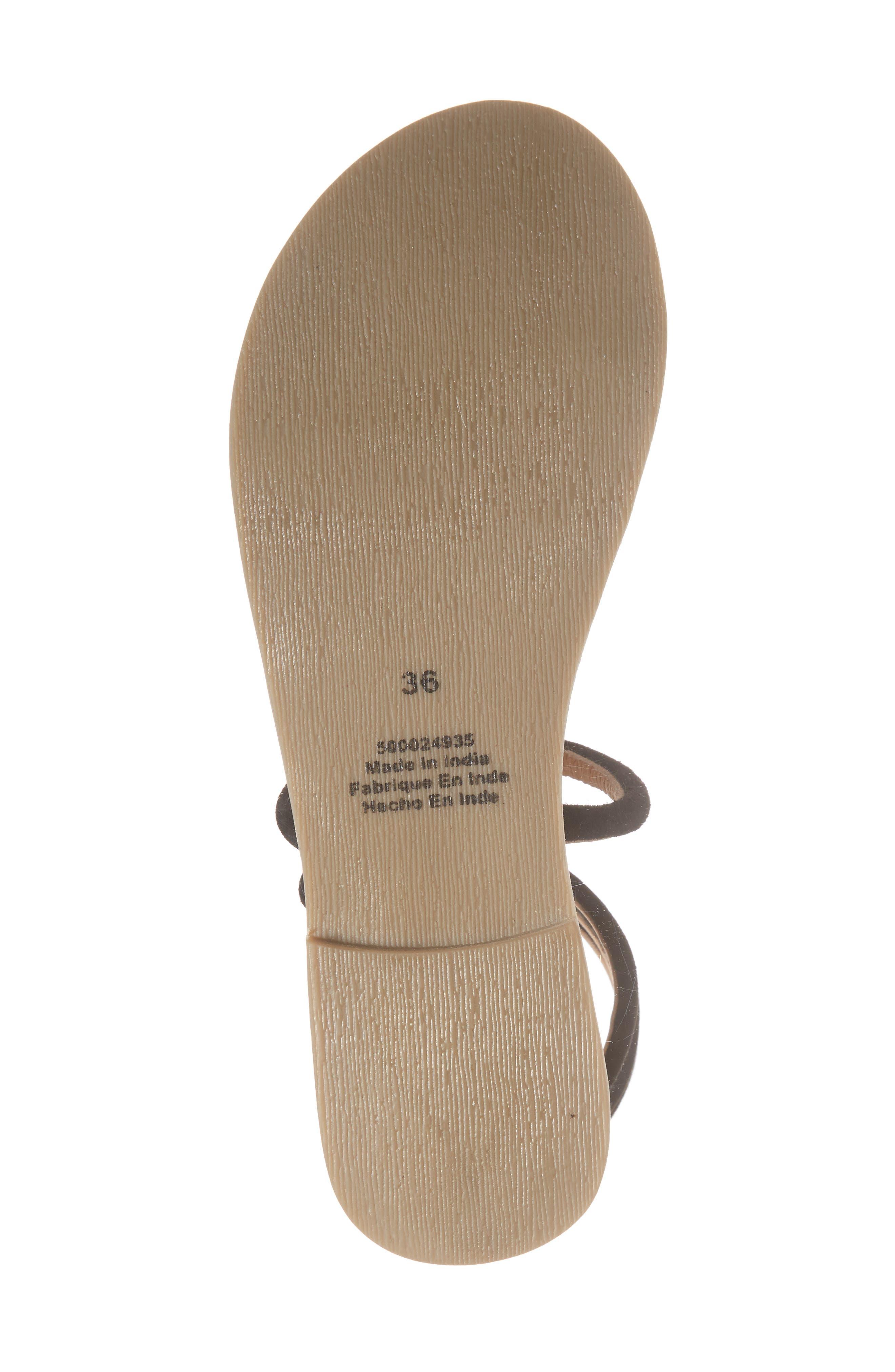 Havana Wraparound Gladiator Sandal,                             Alternate thumbnail 6, color,                             001
