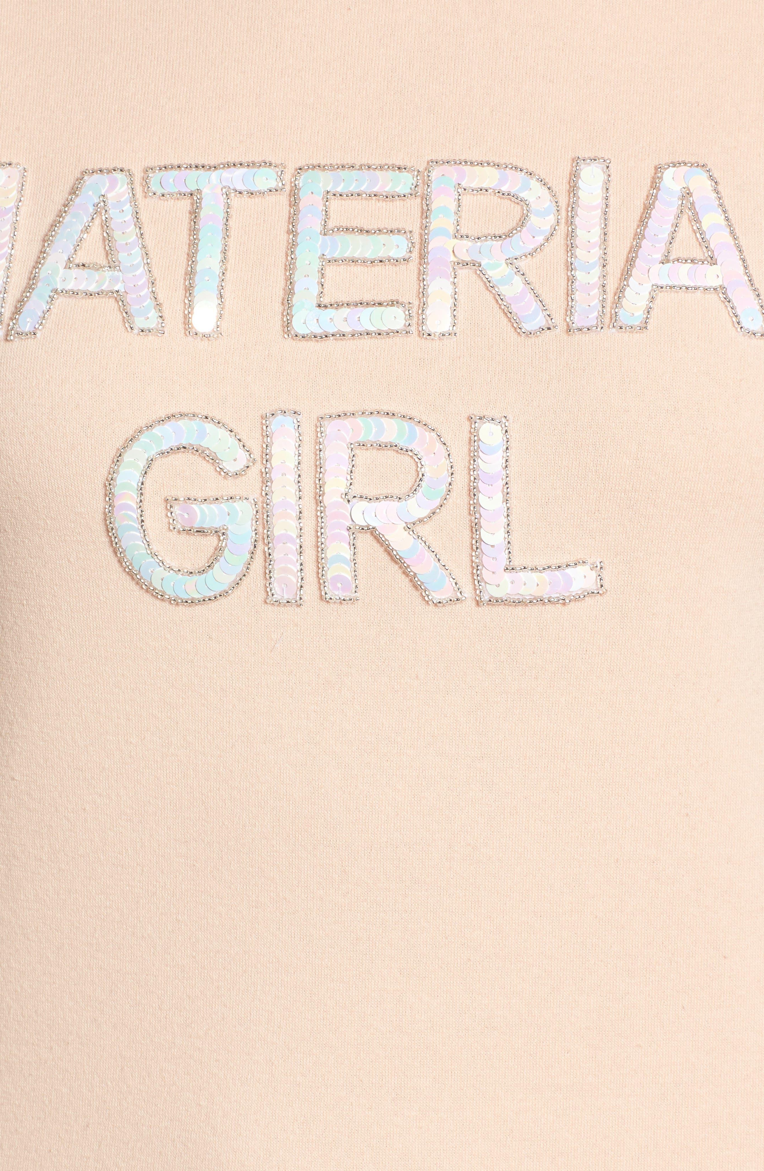 Material Girl Sweatshirt,                             Alternate thumbnail 5, color,                             650