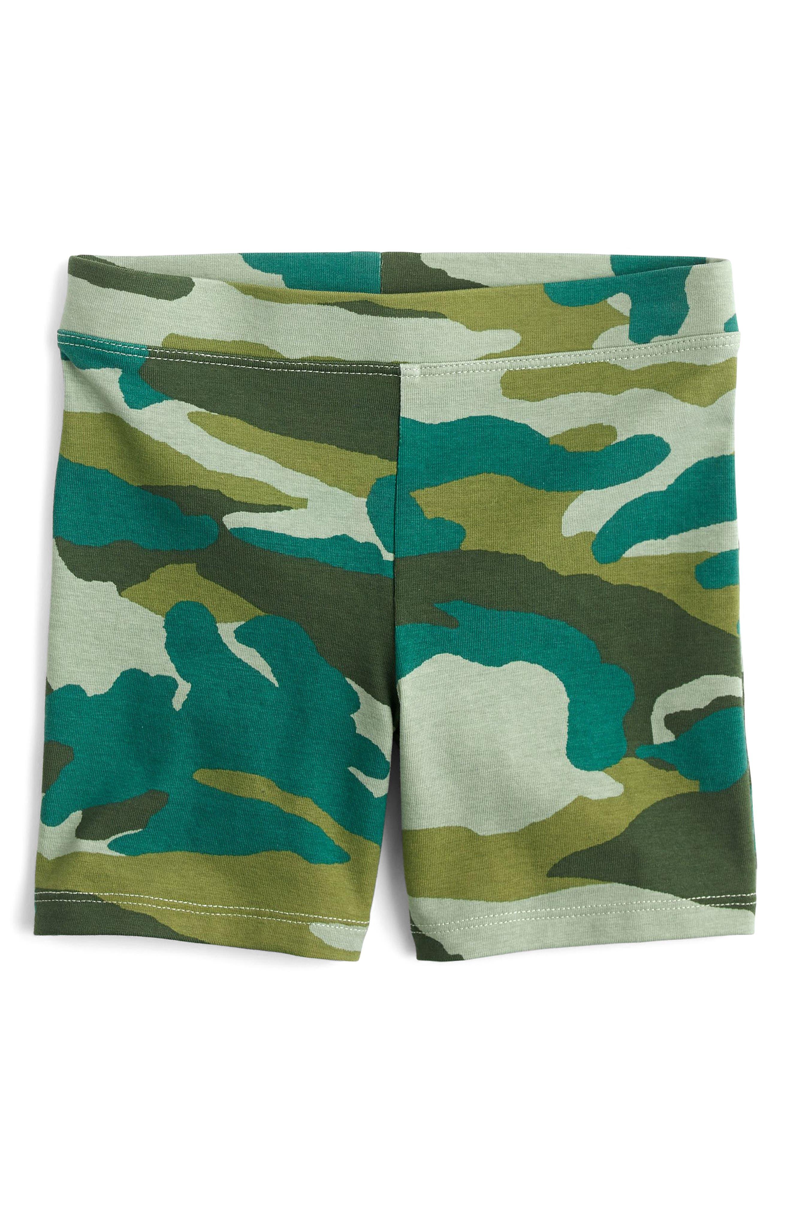 Camo Bike Shorts,                             Main thumbnail 1, color,                             300