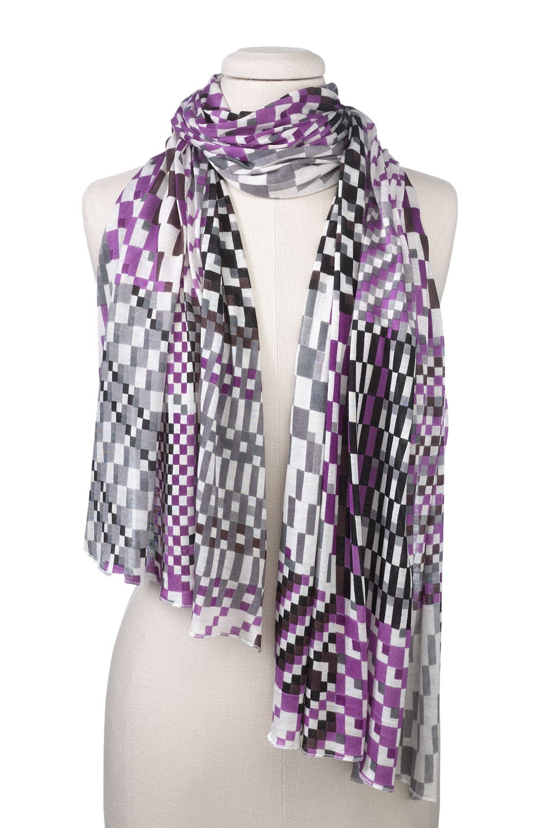 Bindya Geometric Jersey Scarf,                             Main thumbnail 1, color,                             020
