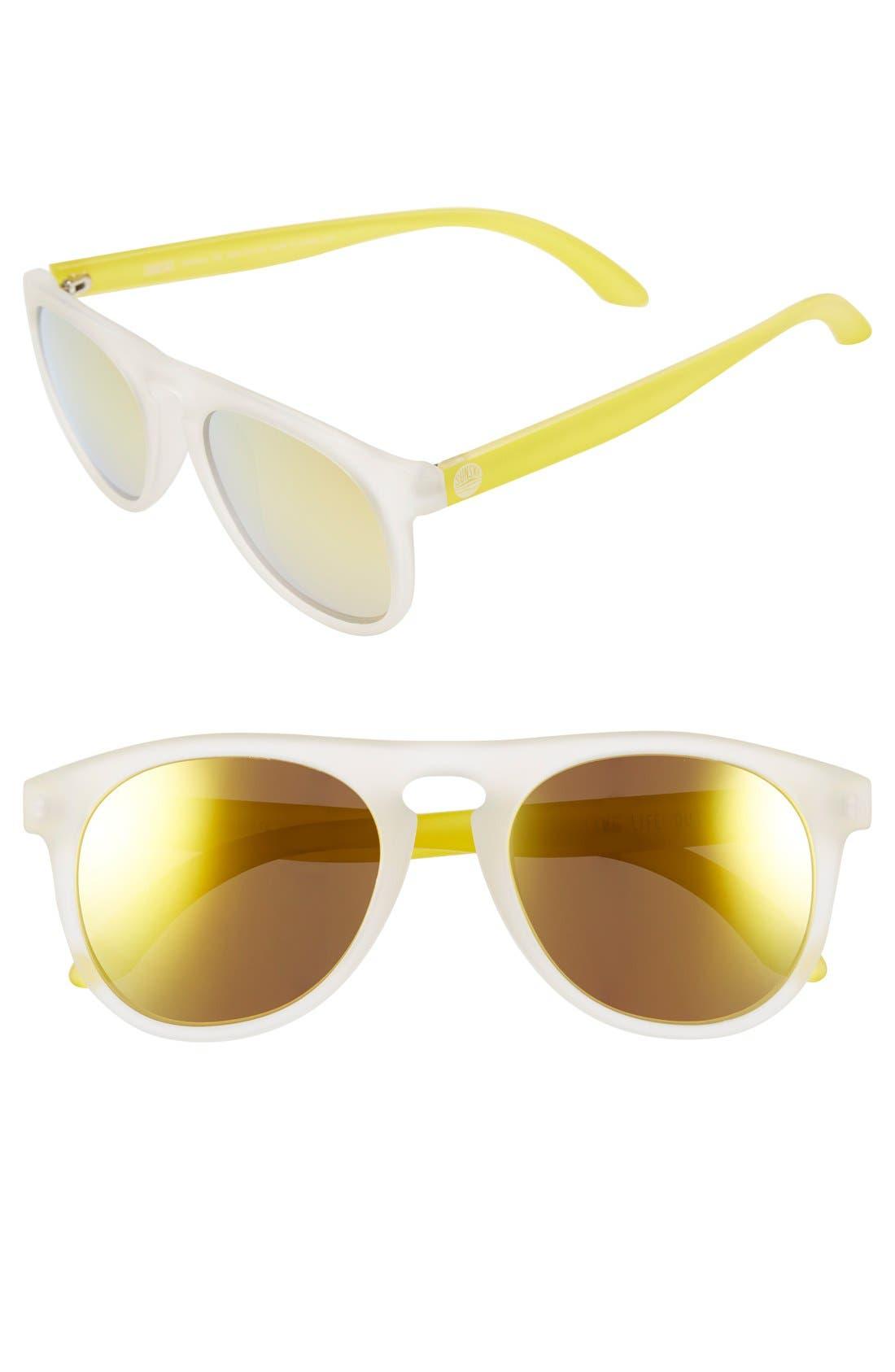 'Foxtail' 52mm Polarized Aviator Sunglasses,                             Main thumbnail 3, color,