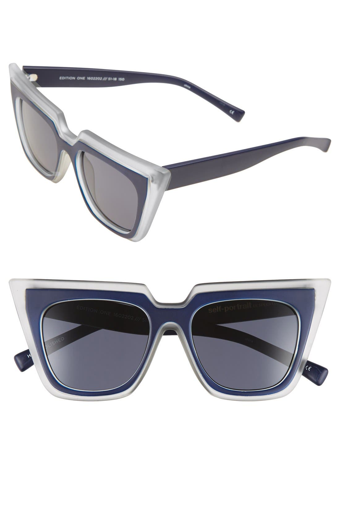 'Edition One' 51mm Sunglasses,                             Main thumbnail 3, color,