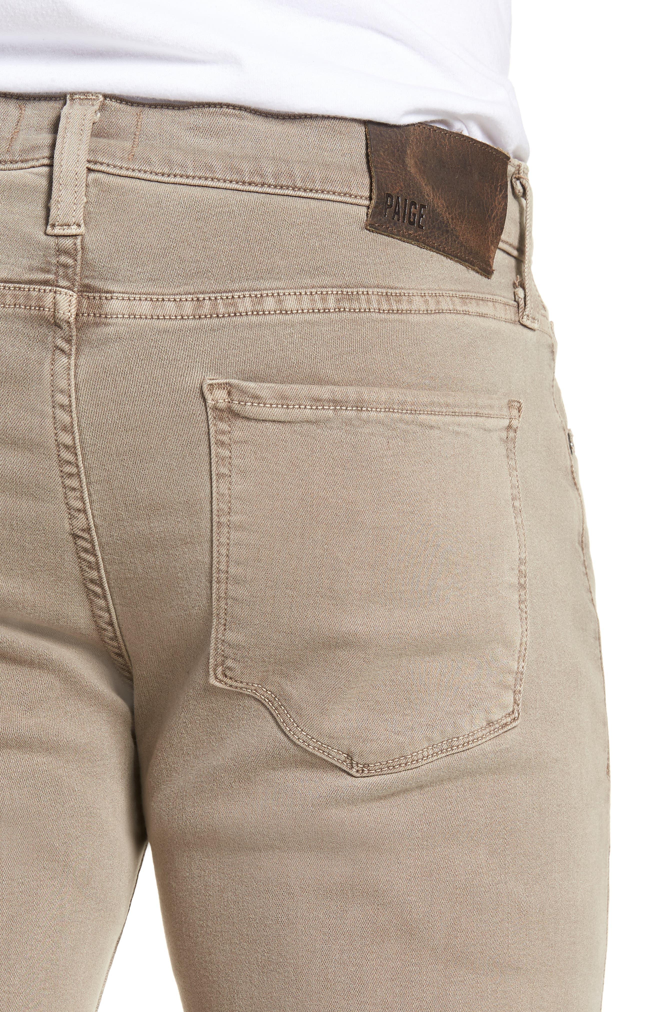 Federal Slim Straight Leg Jeans,                             Alternate thumbnail 4, color,                             VINTAGE MUSHROOM