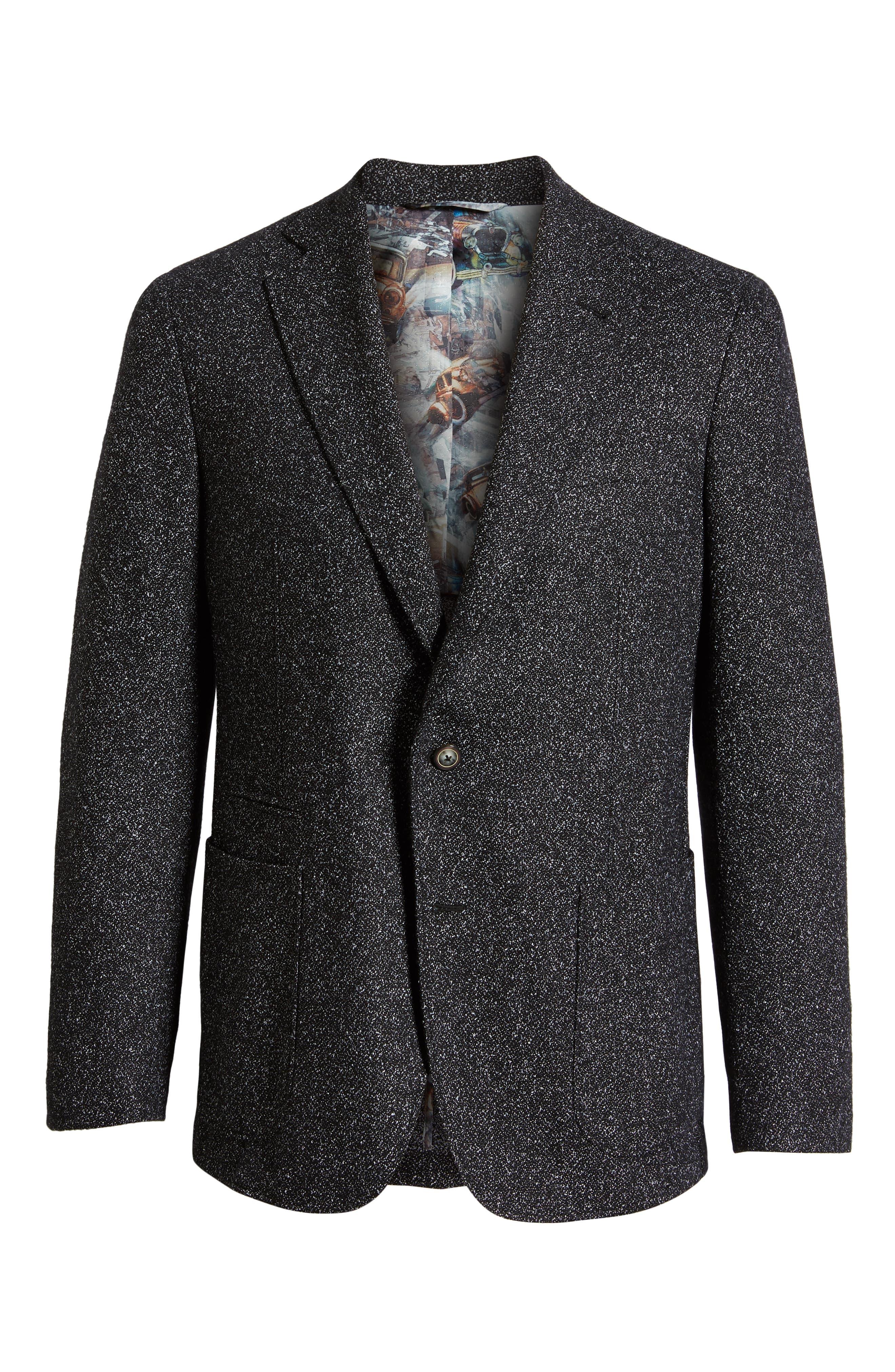 Chester Tailored Fit Sport Coat,                             Alternate thumbnail 5, color,                             BLACK