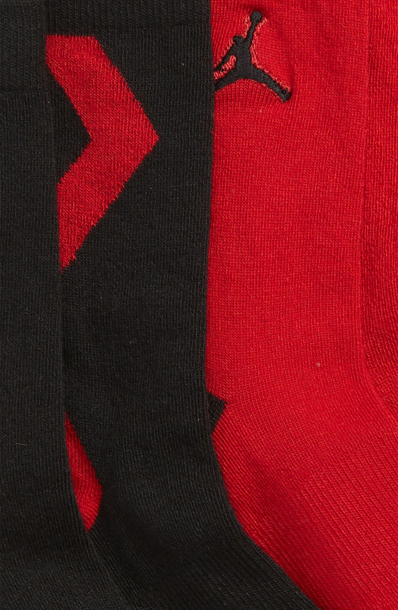 2-Pack Jordan Raise Up High Crew Socks,                             Alternate thumbnail 2, color,                             BLACK
