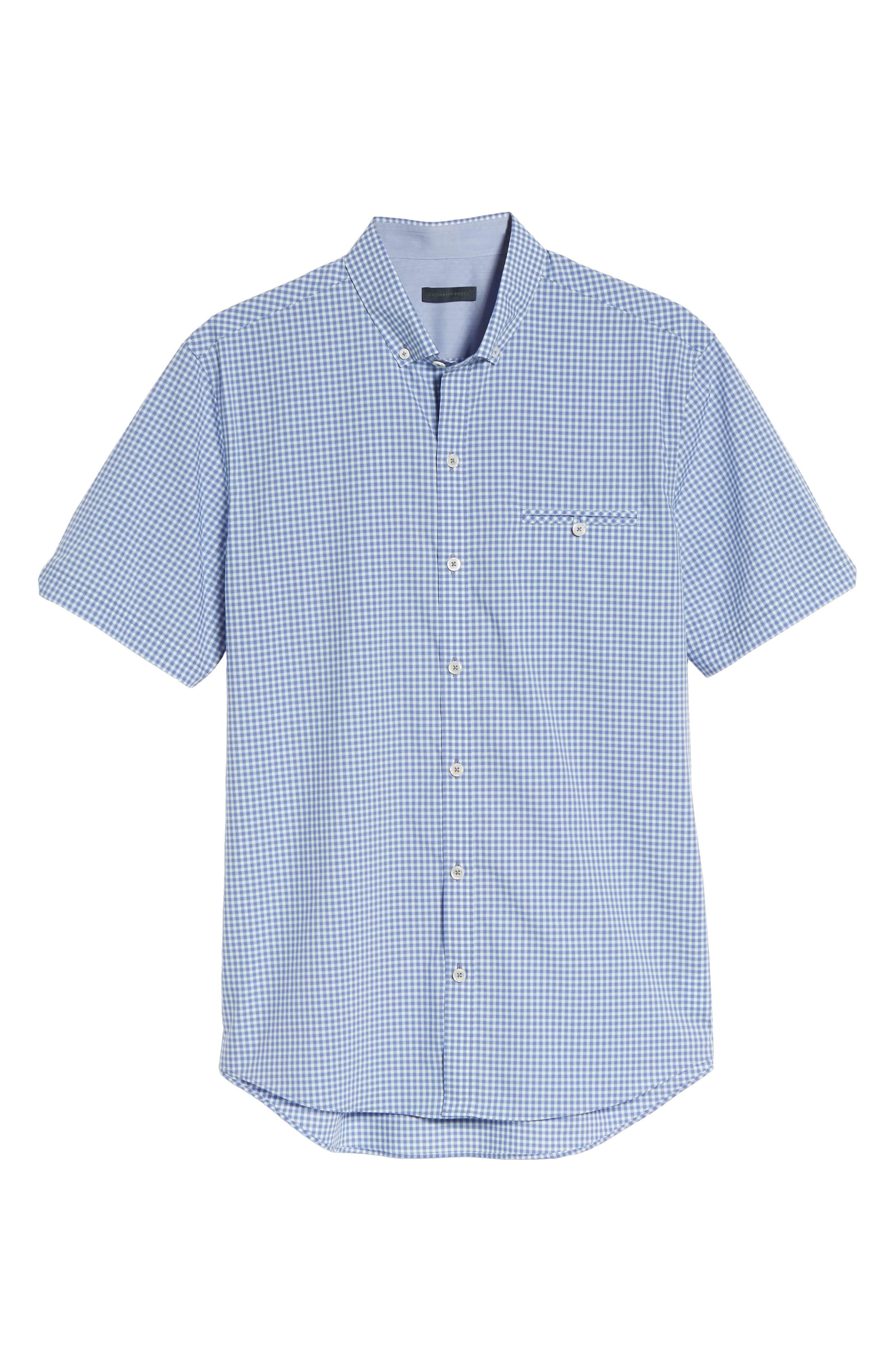 Giovinco Plaid Sport Shirt,                             Alternate thumbnail 6, color,                             OCEAN