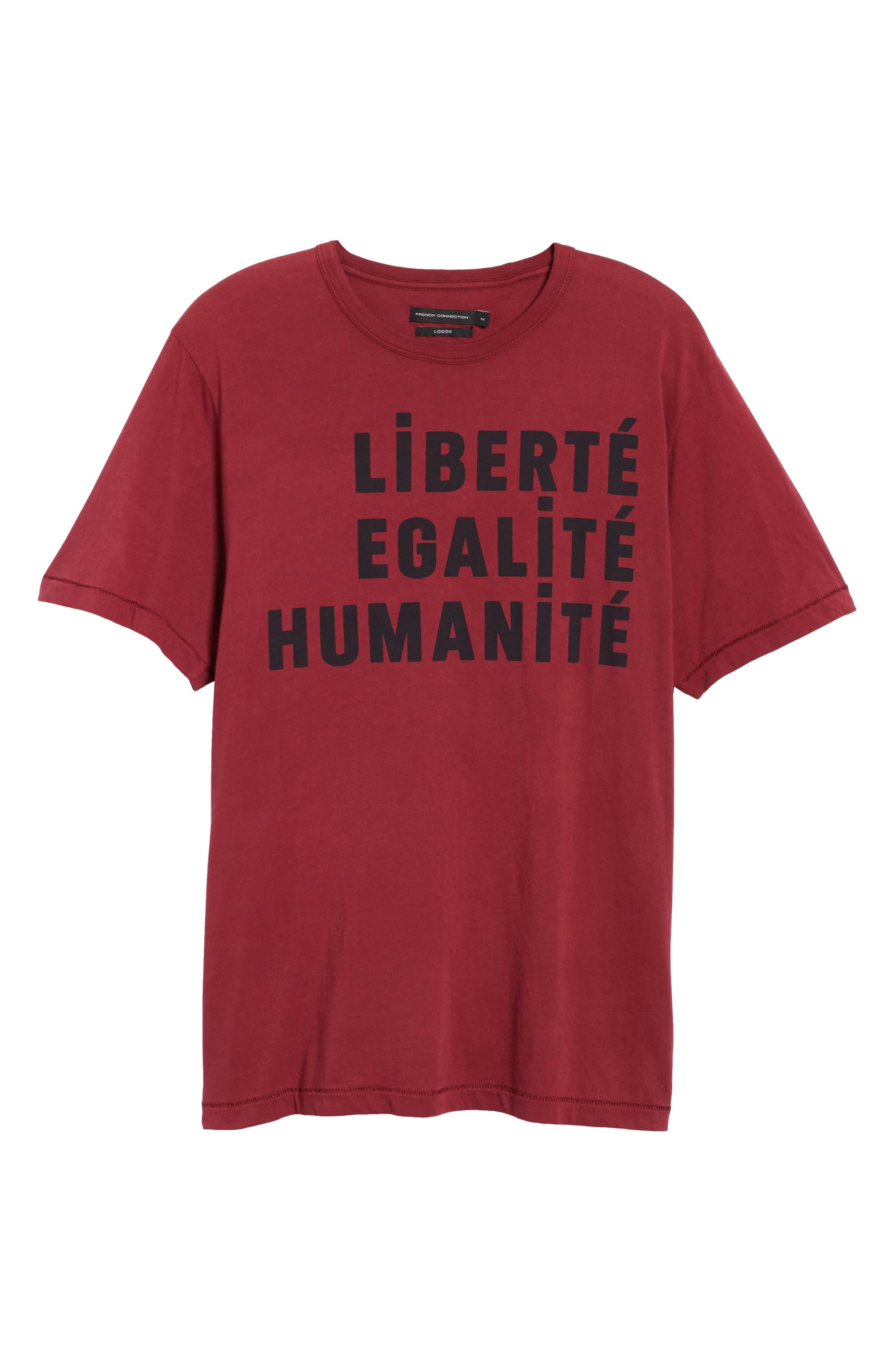 Égalité Regular Fit Graphic T-Shirt,                             Alternate thumbnail 6, color,                             600