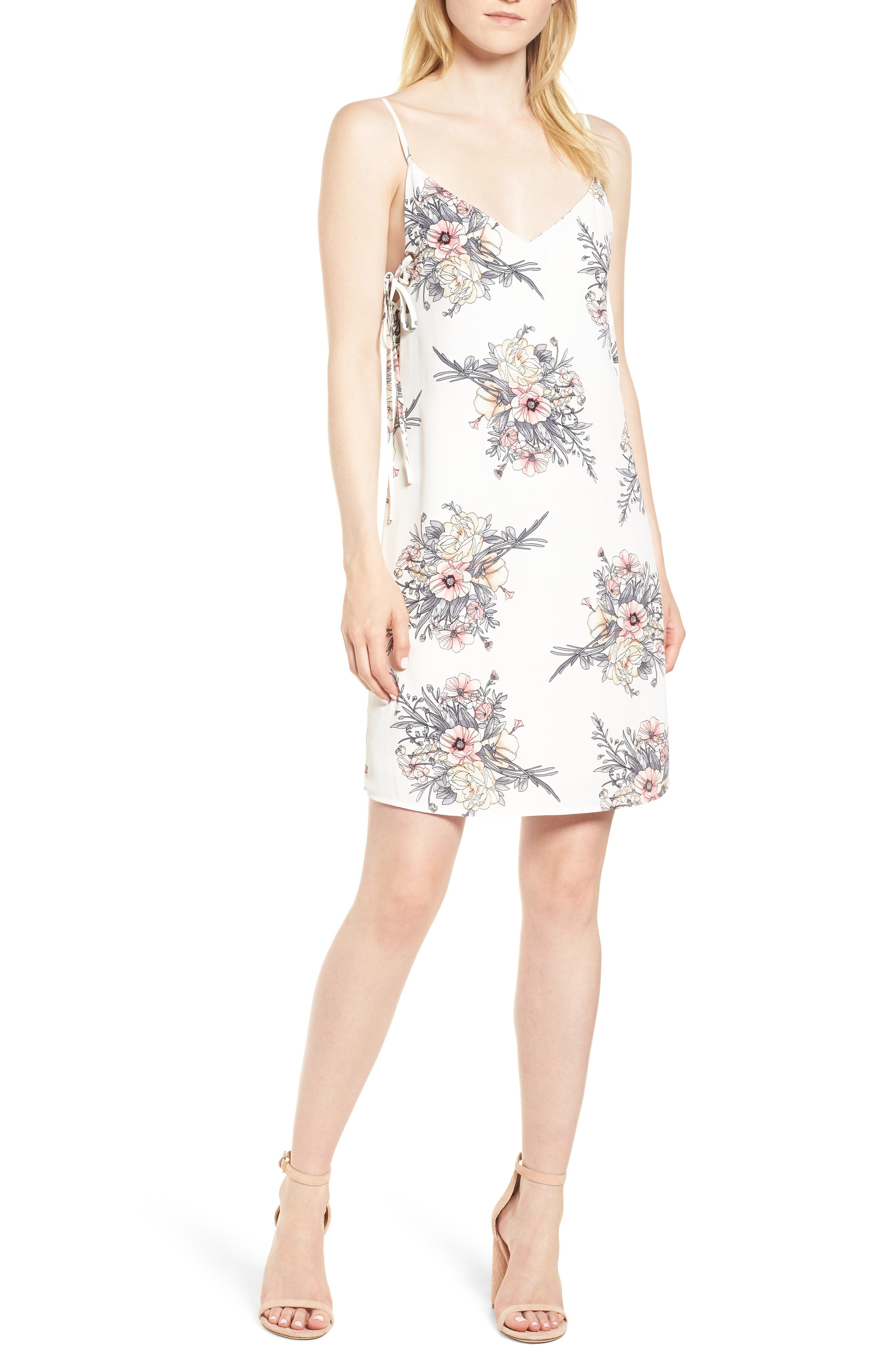 BISHOP + YOUNG Summer of Love Lace-Up Dress, Main, color, 191