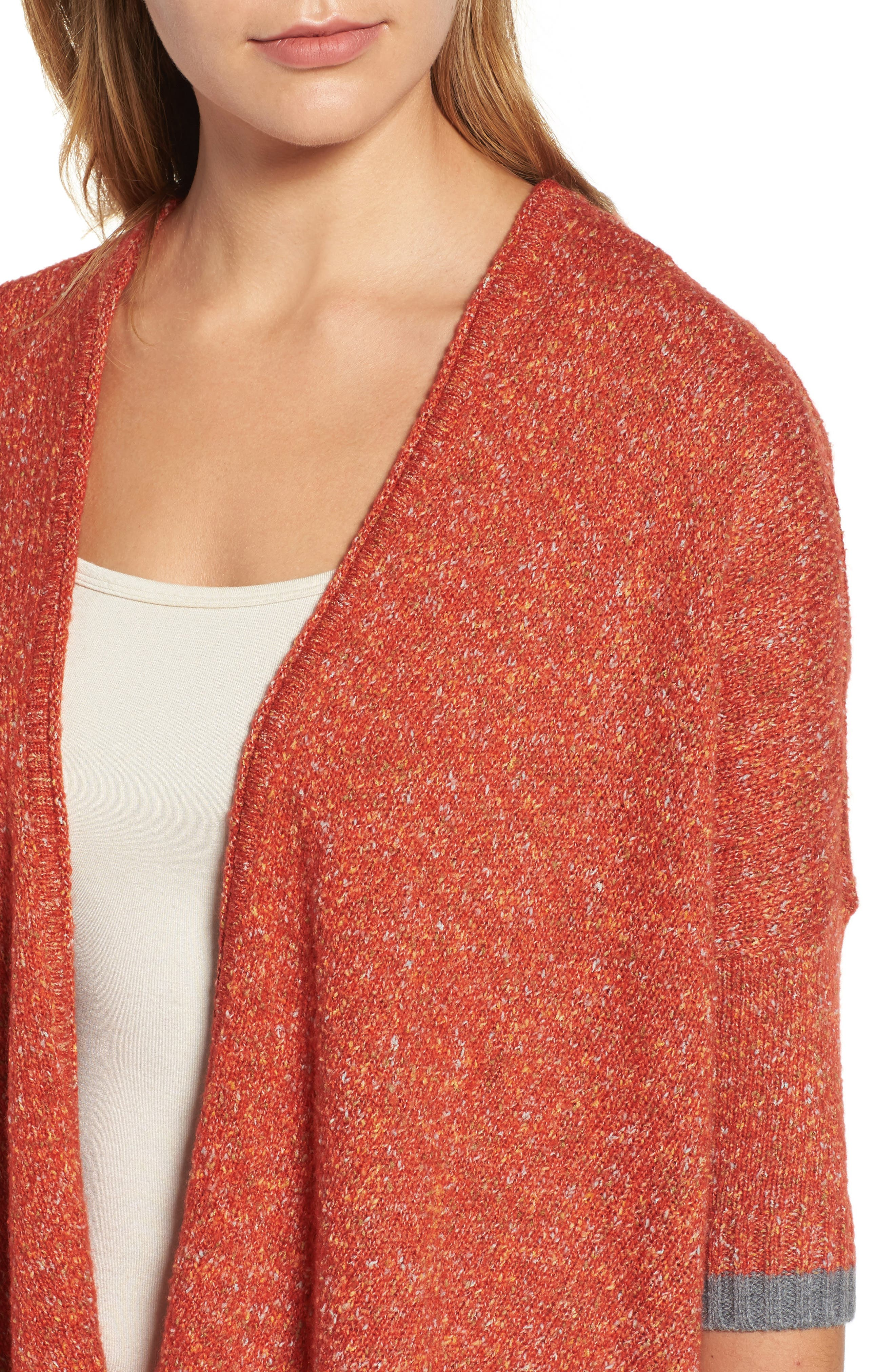 Open Front Knit Cardigan,                             Alternate thumbnail 4, color,                             805