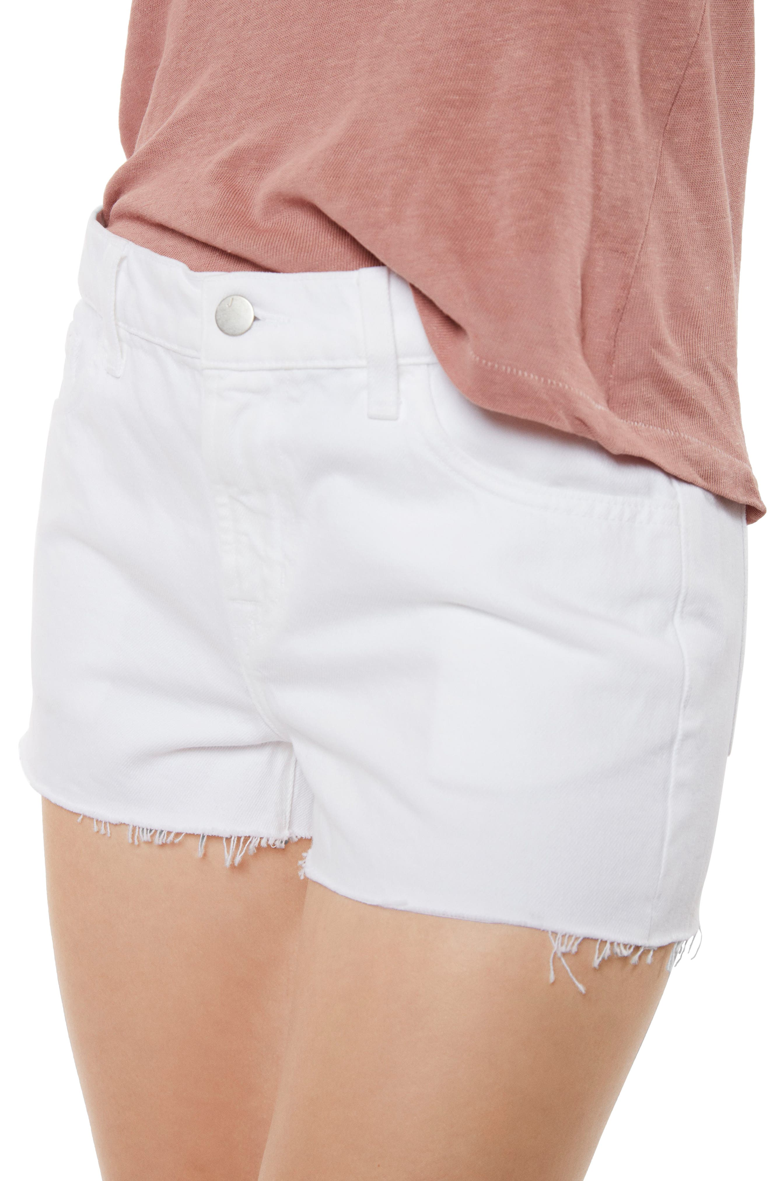 J BRAND,                             Raw Hem Denim Shorts,                             Alternate thumbnail 4, color,                             109