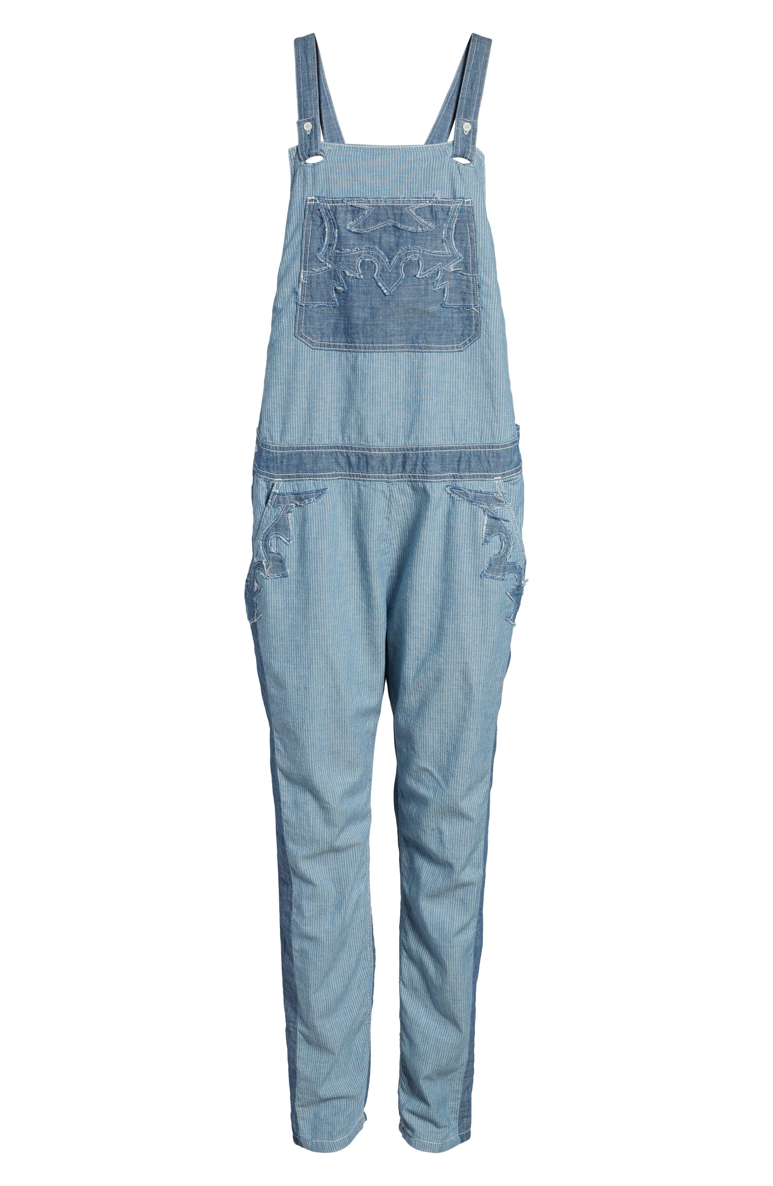 Sidney Patch Overalls,                             Alternate thumbnail 6, color,                             465