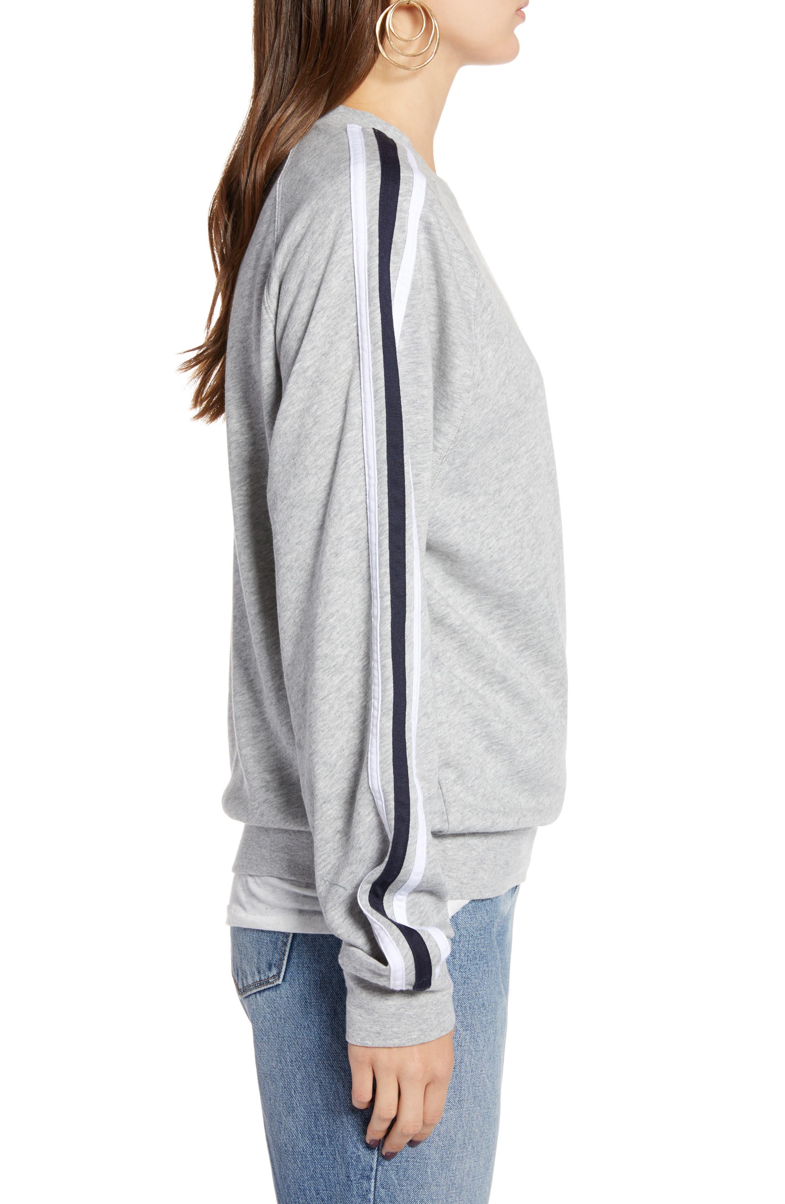 Stripe Raglan Sleeve Sweatshirt,                             Alternate thumbnail 3, color,                             030