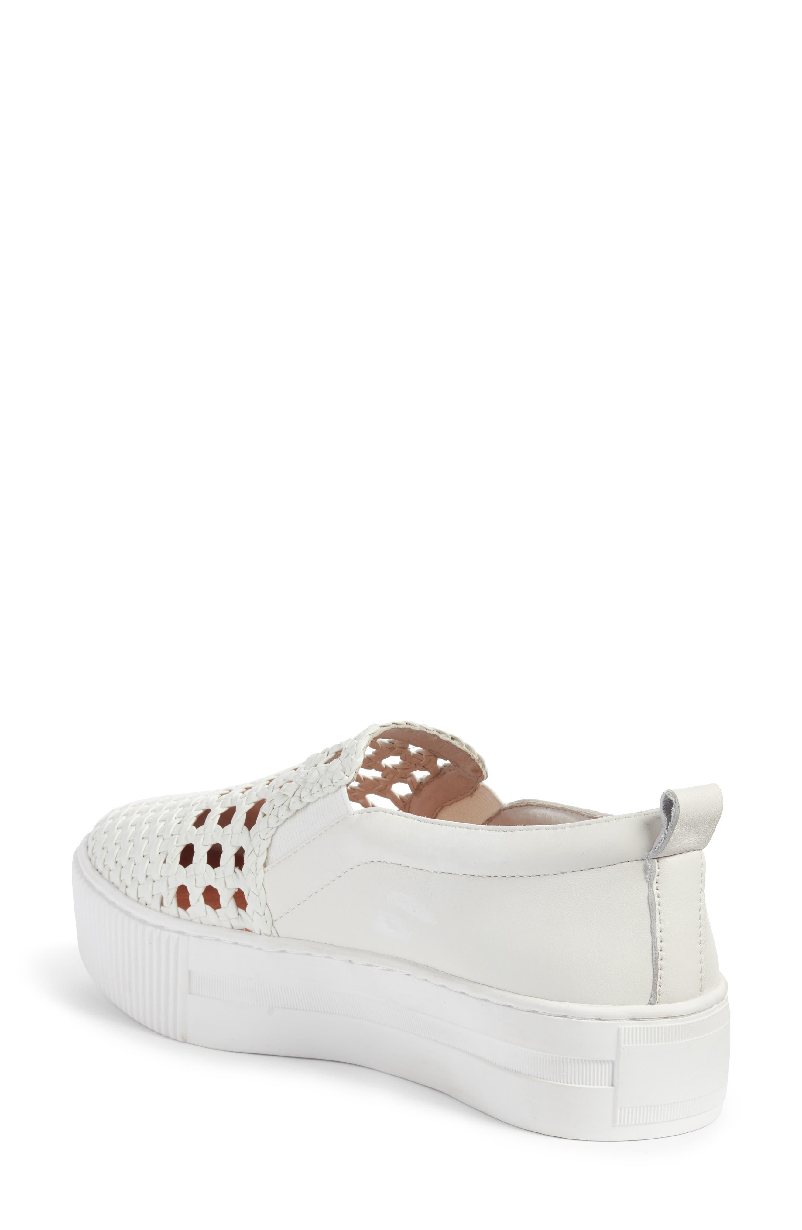 Baylee Slip-On Sneaker,                             Alternate thumbnail 2, color,                             WHITE WOVEN