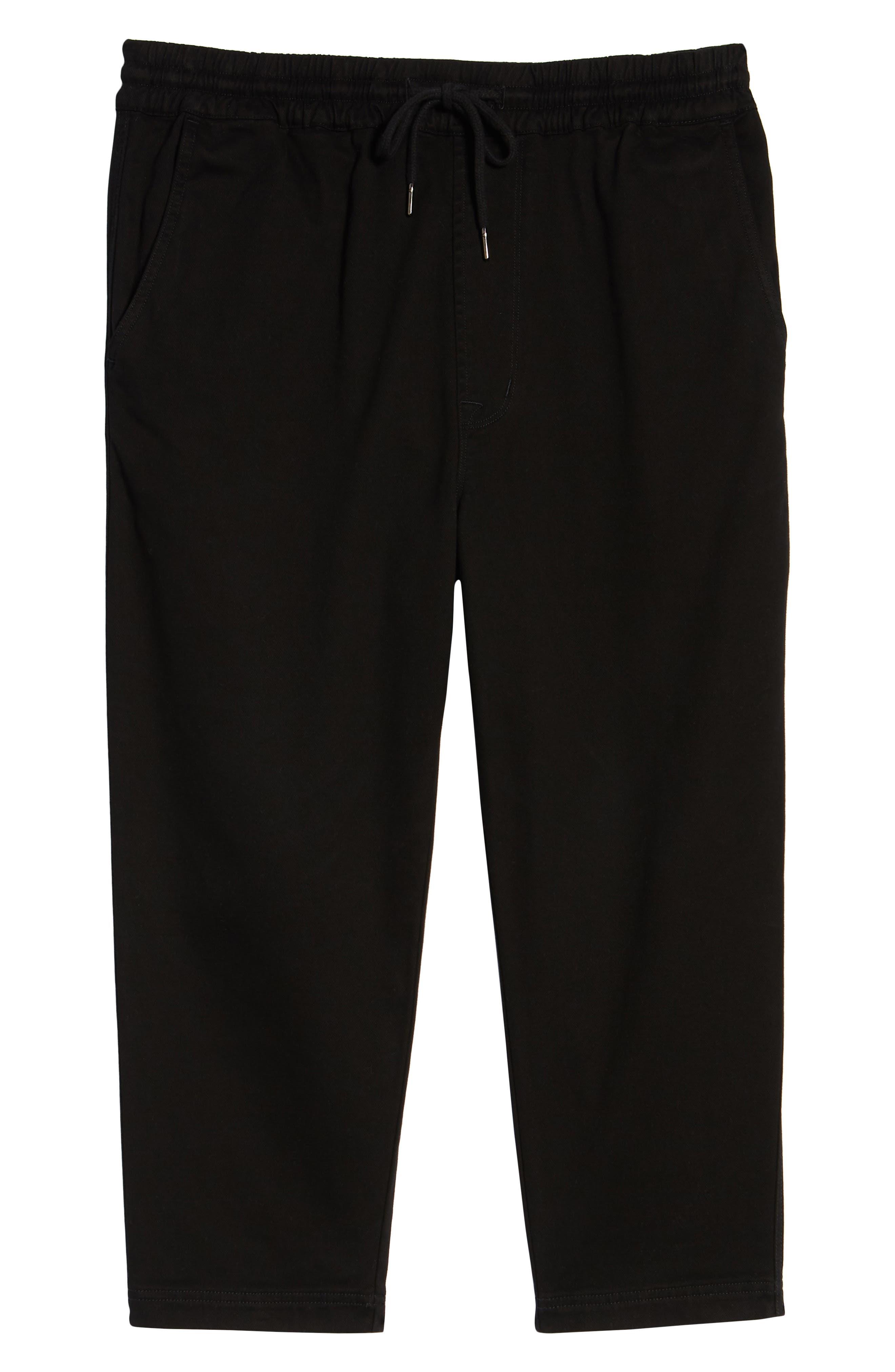 Hudson Leo Drop Crotch Pants,                             Alternate thumbnail 6, color,                             001