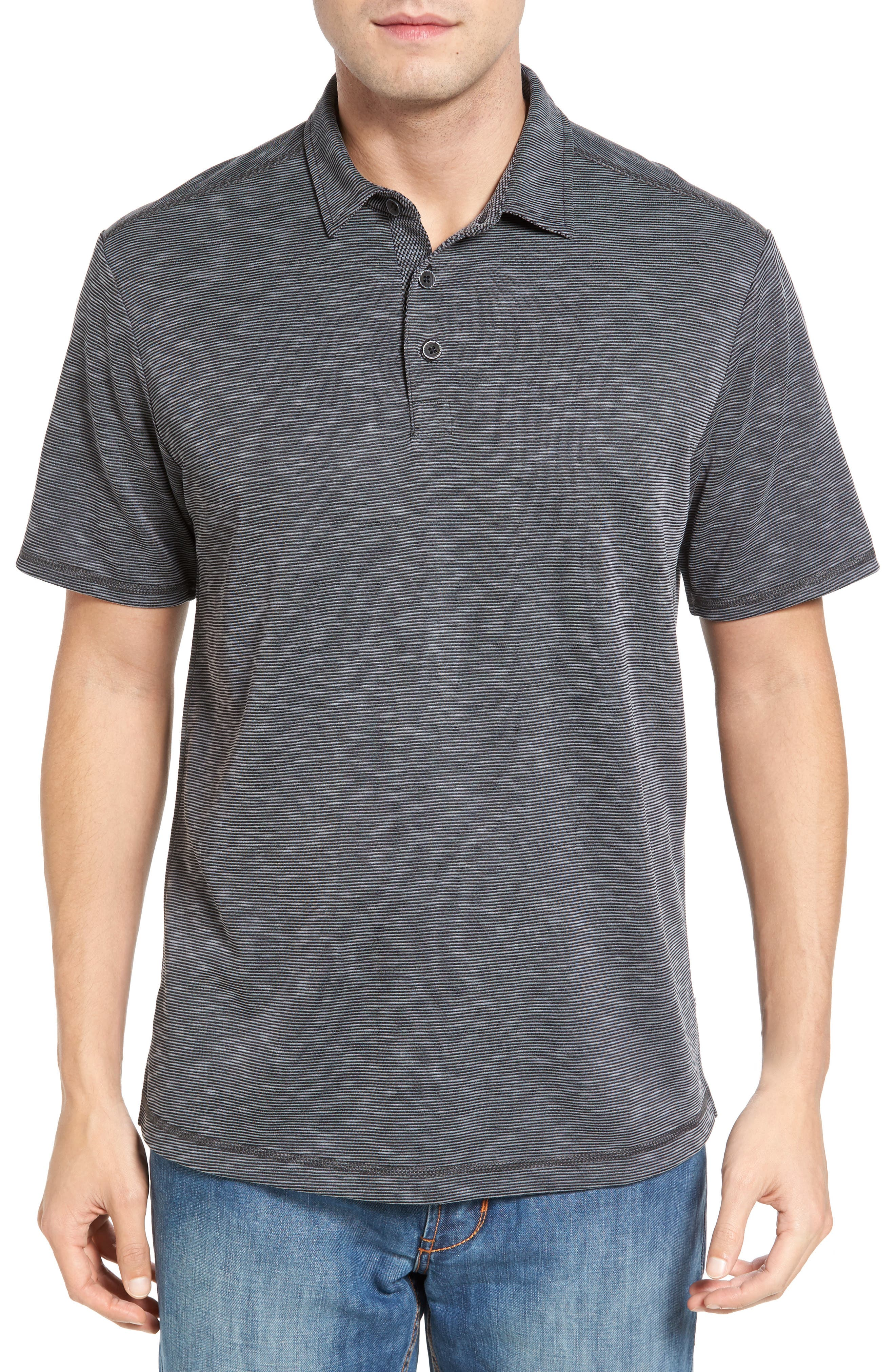 New Double Tempo Spectator Jersey Polo,                         Main,                         color, 001