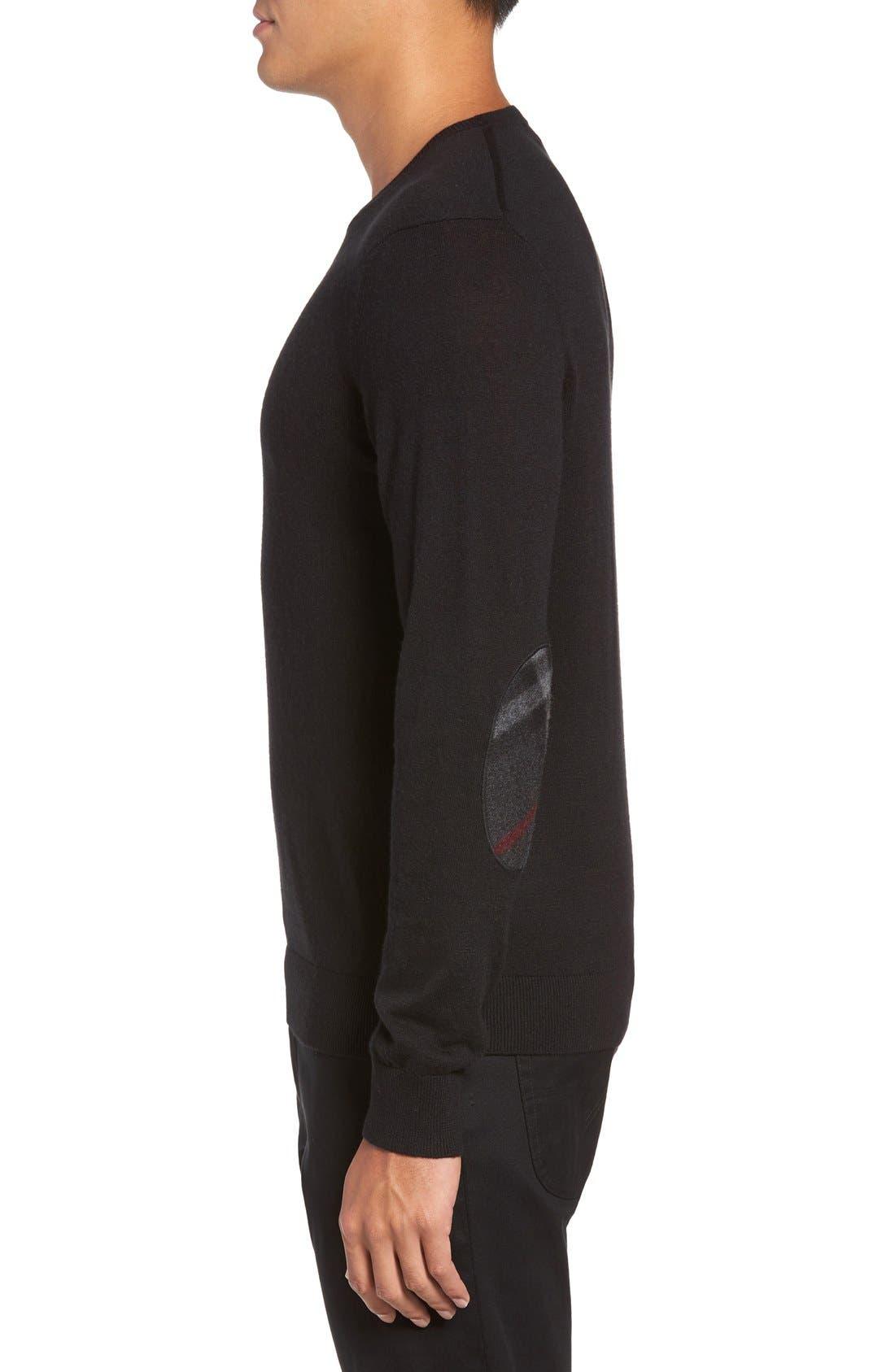 Brit Richmond Cotton & Cashmere Sweater,                             Alternate thumbnail 3, color,                             001