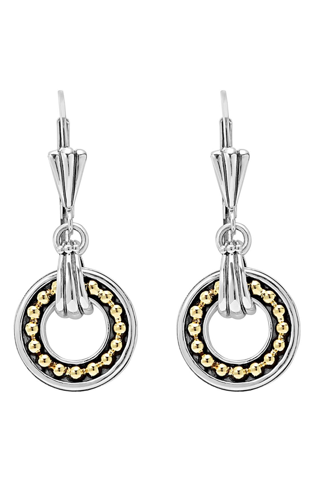 Enso Two Tone Drop Earrings,                             Alternate thumbnail 2, color,                             040