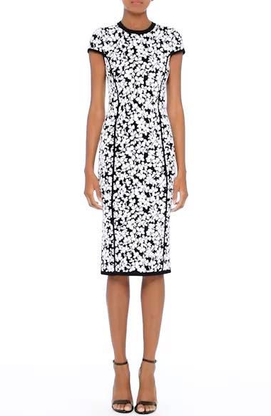 Floral Jacquard Sheath Dress, video thumbnail