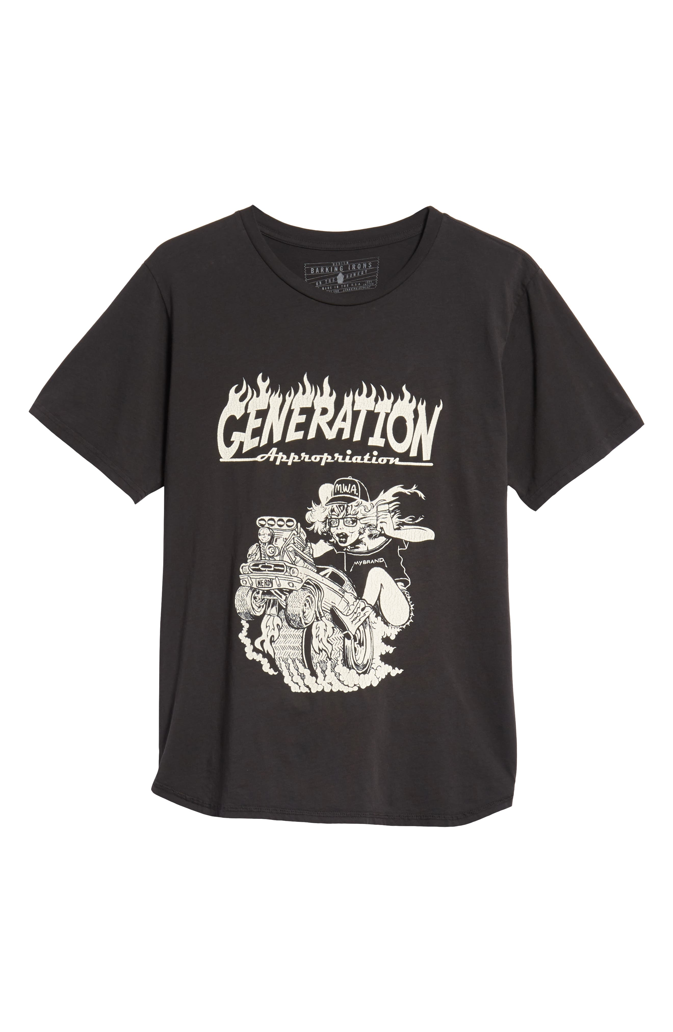 Generation Appropriation Graphic T-Shirt,                             Alternate thumbnail 6, color,                             DUSTY BLACK
