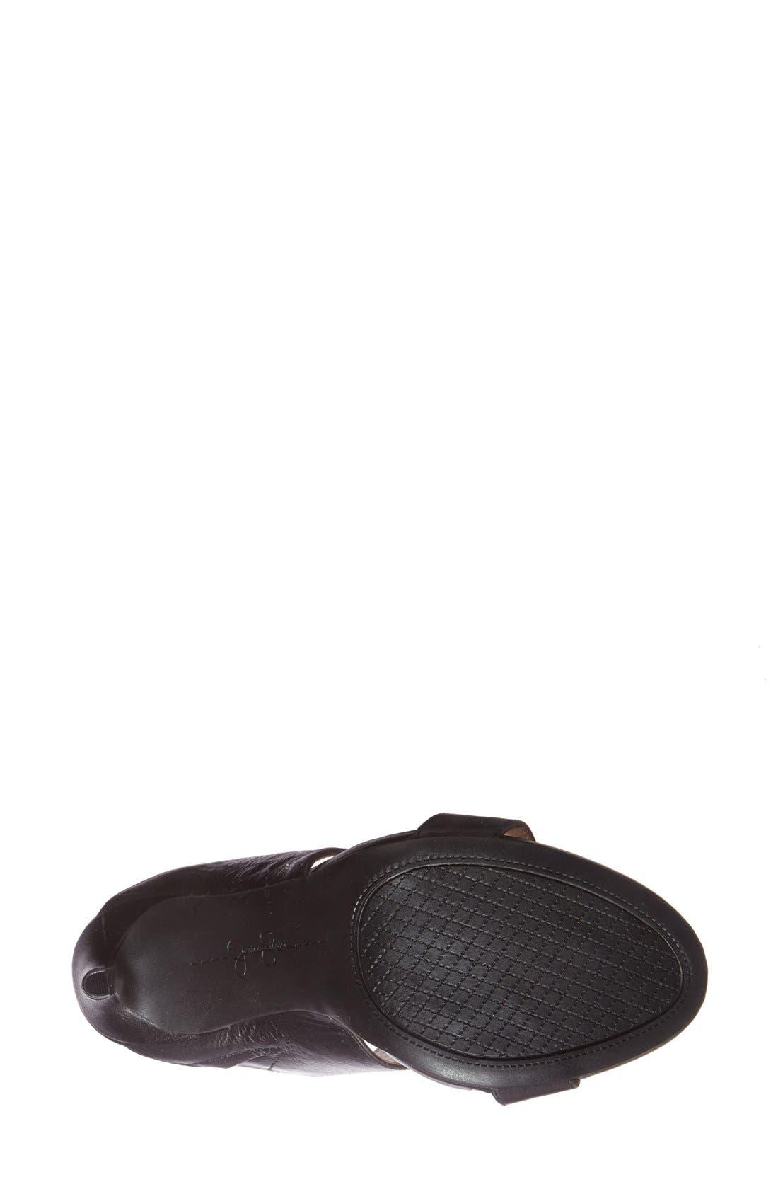 JESSICA SIMPSON,                             'Romy' Leather Platform Mule,                             Alternate thumbnail 2, color,                             001