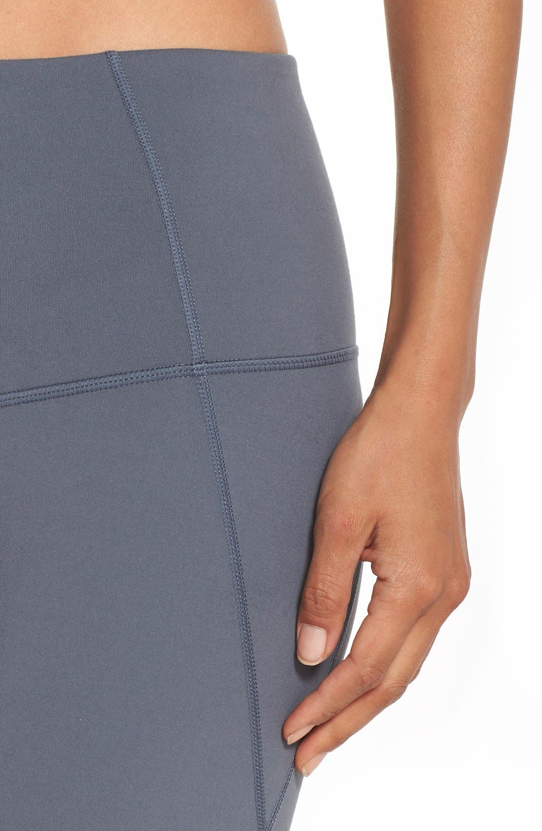 'Live In - Sultry' High Waist Mesh Crop Leggings,                             Alternate thumbnail 39, color,