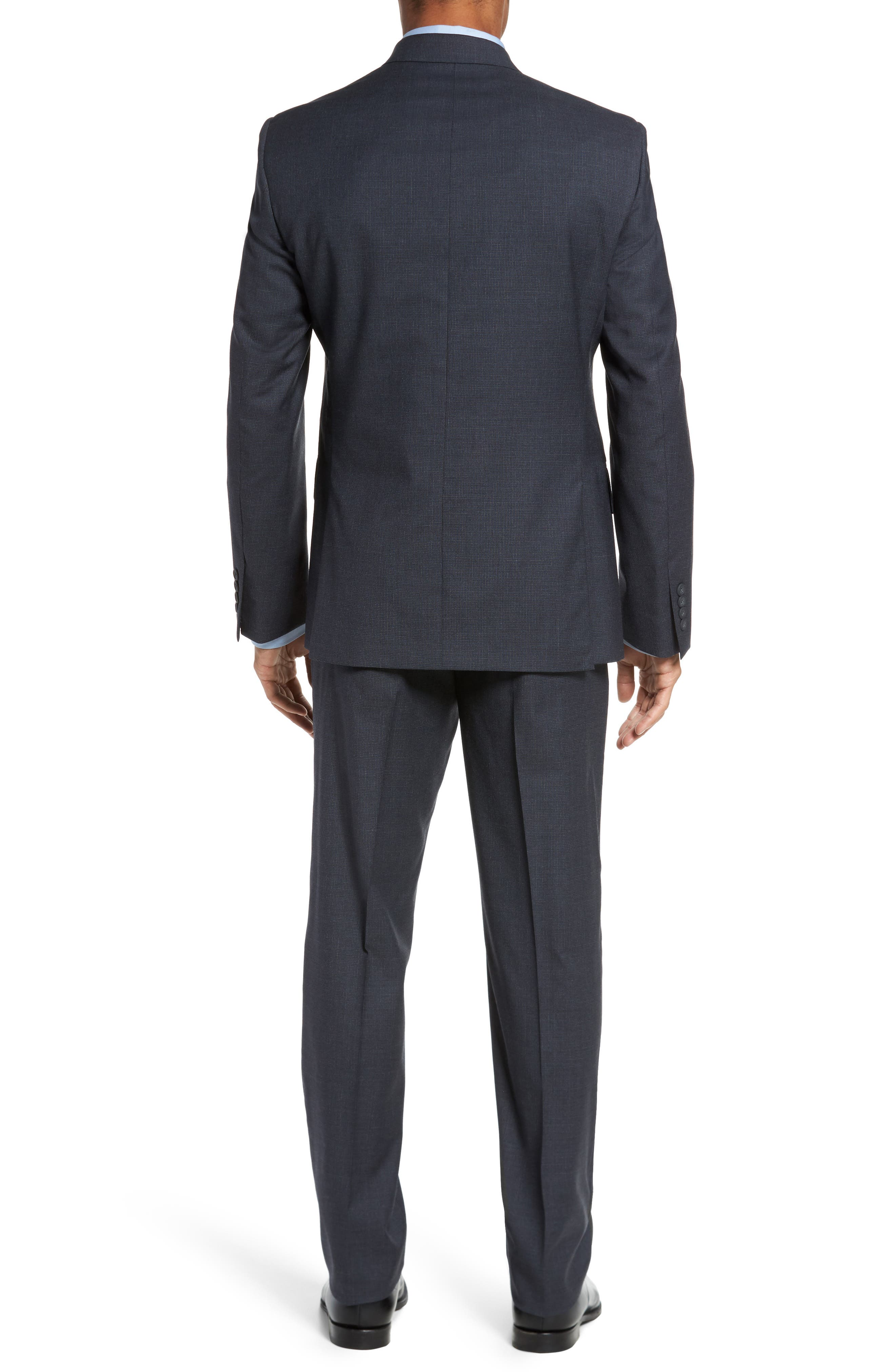 Classic Fit Check Wool Suit,                             Alternate thumbnail 6, color,