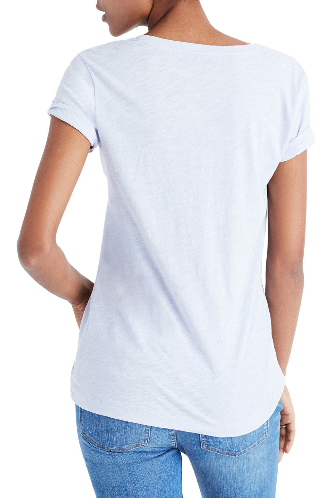 Whisper Cotton V-Neck Pocket Tee,                             Alternate thumbnail 68, color,