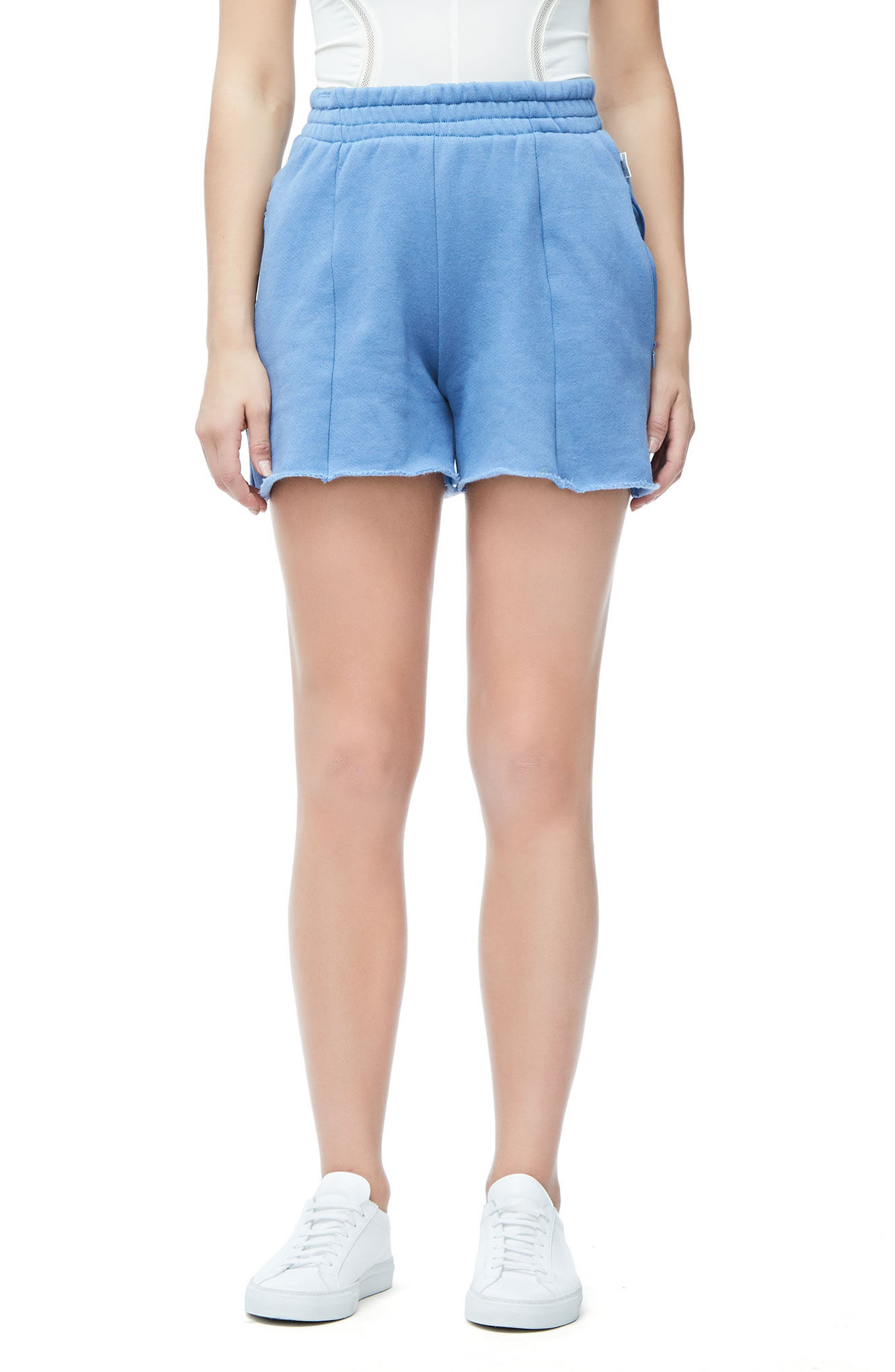 Wide Leg Sweat Shorts,                             Main thumbnail 1, color,                             401