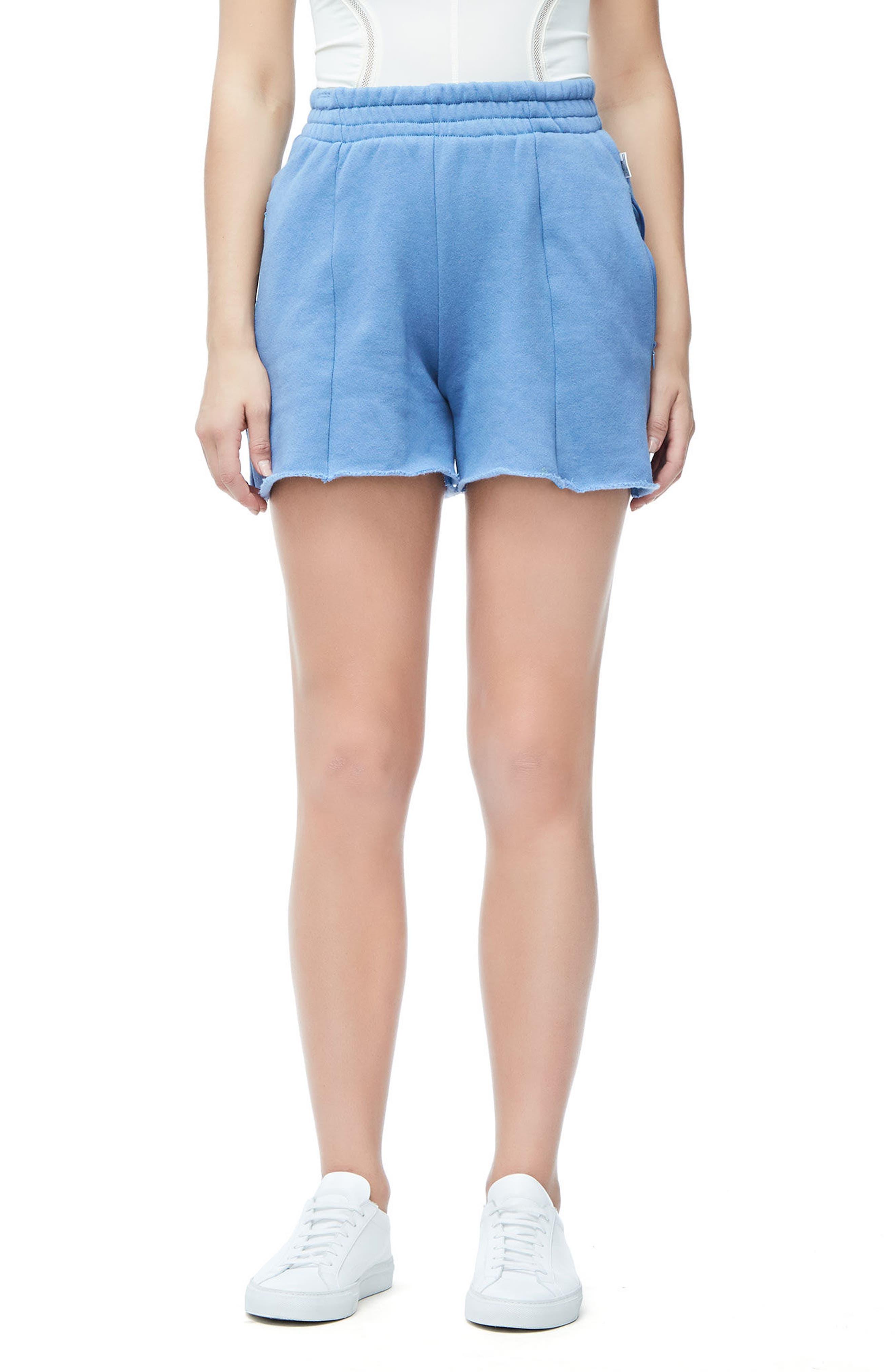 Wide Leg Sweat Shorts,                         Main,                         color, 401