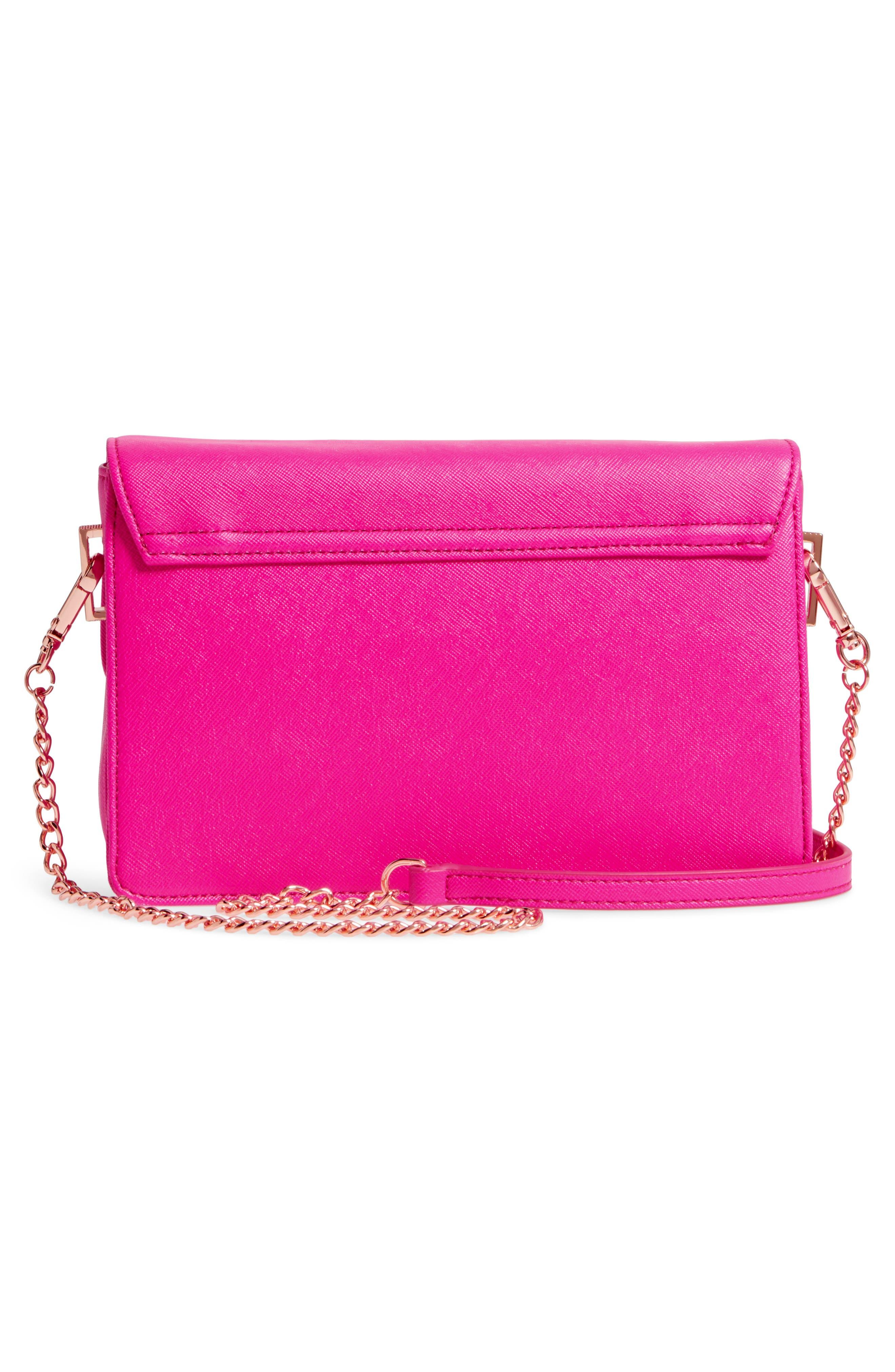 Heatha Faux Leather Crossbody Bag,                             Alternate thumbnail 9, color,