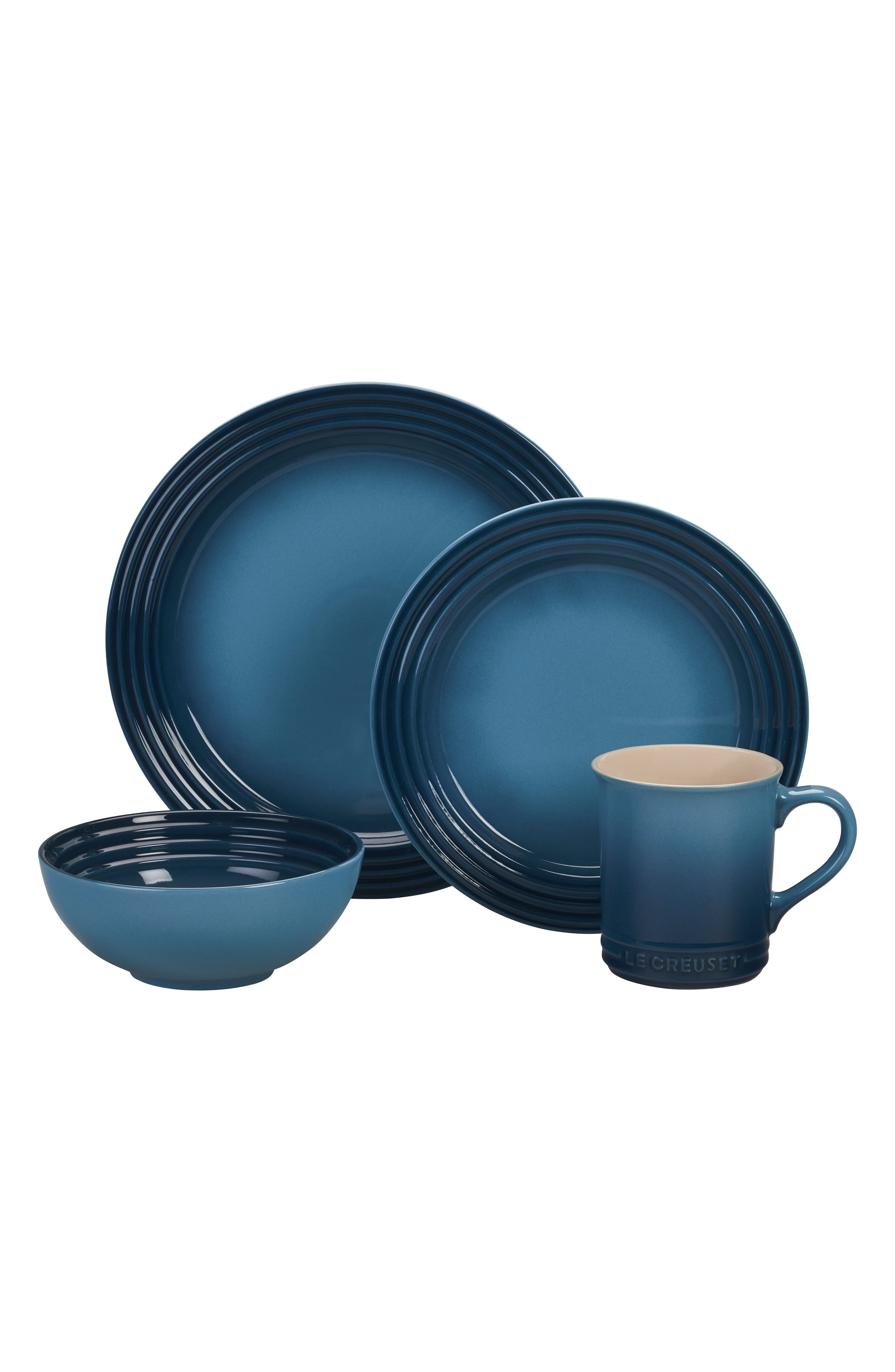 Le Creuset 16Piece Stoneware Dinnerware Set Size One Size  Blue