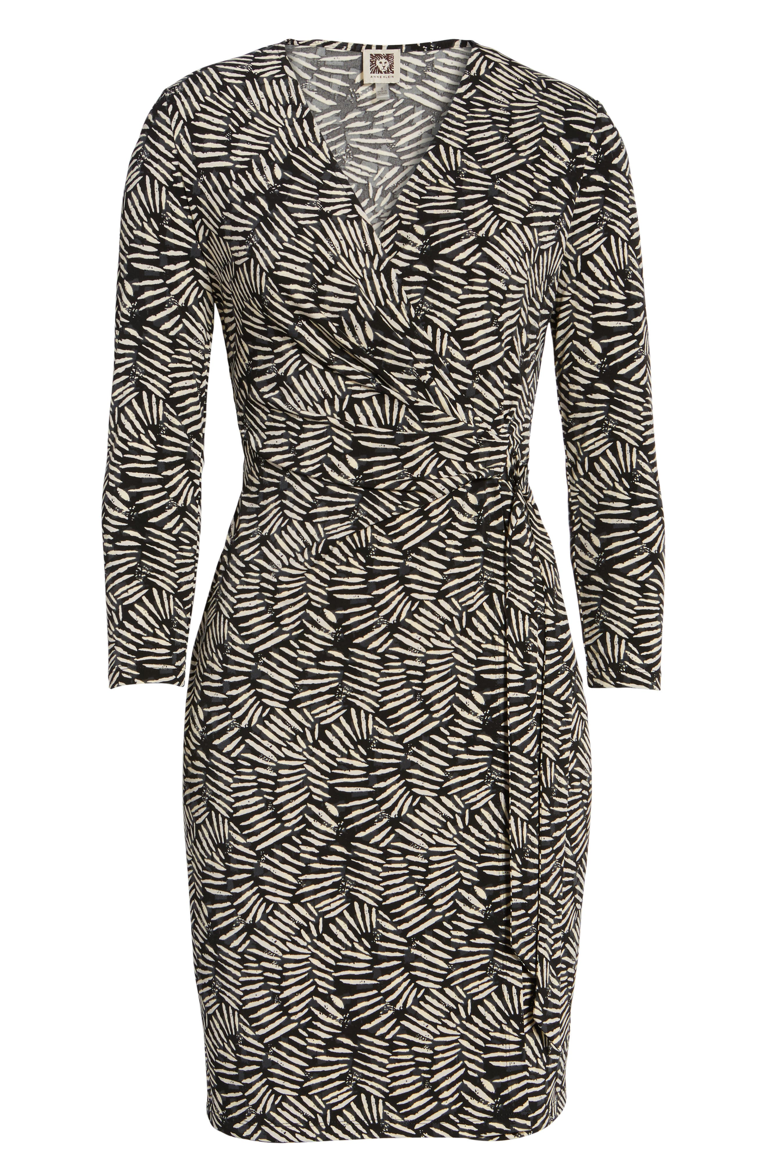 Print Wrap Dress,                             Alternate thumbnail 6, color,                             011