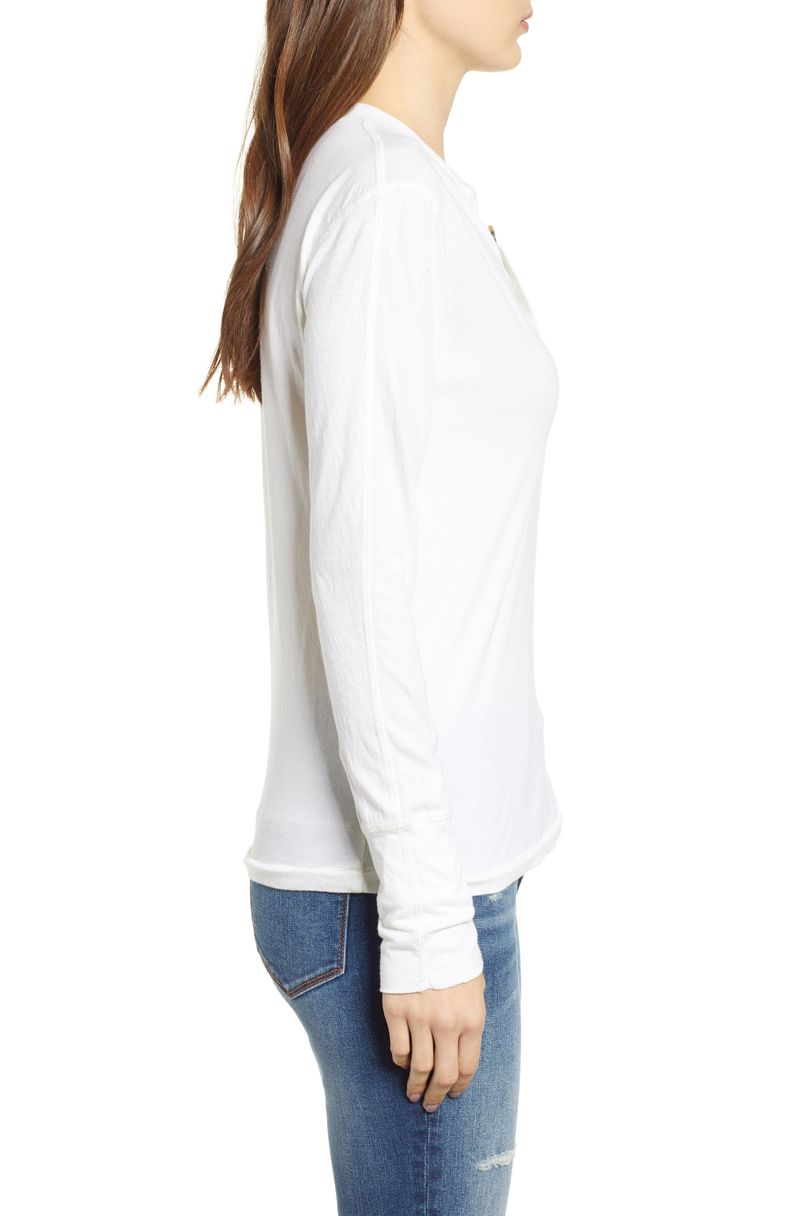Like a Rollin Stone Henley,                             Alternate thumbnail 3, color,                             OFF WHITE