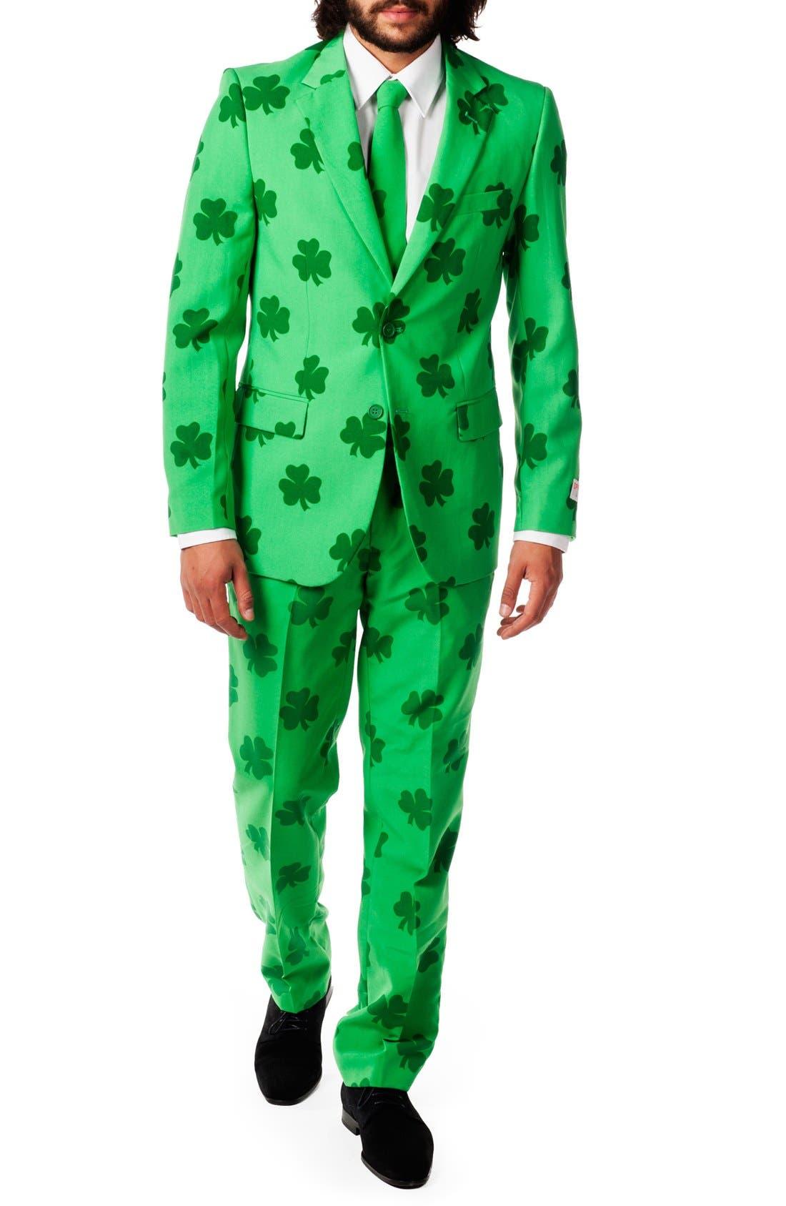 'Patrick' Trim Fit Two-Piece Suit with Tie,                             Main thumbnail 1, color,                             320