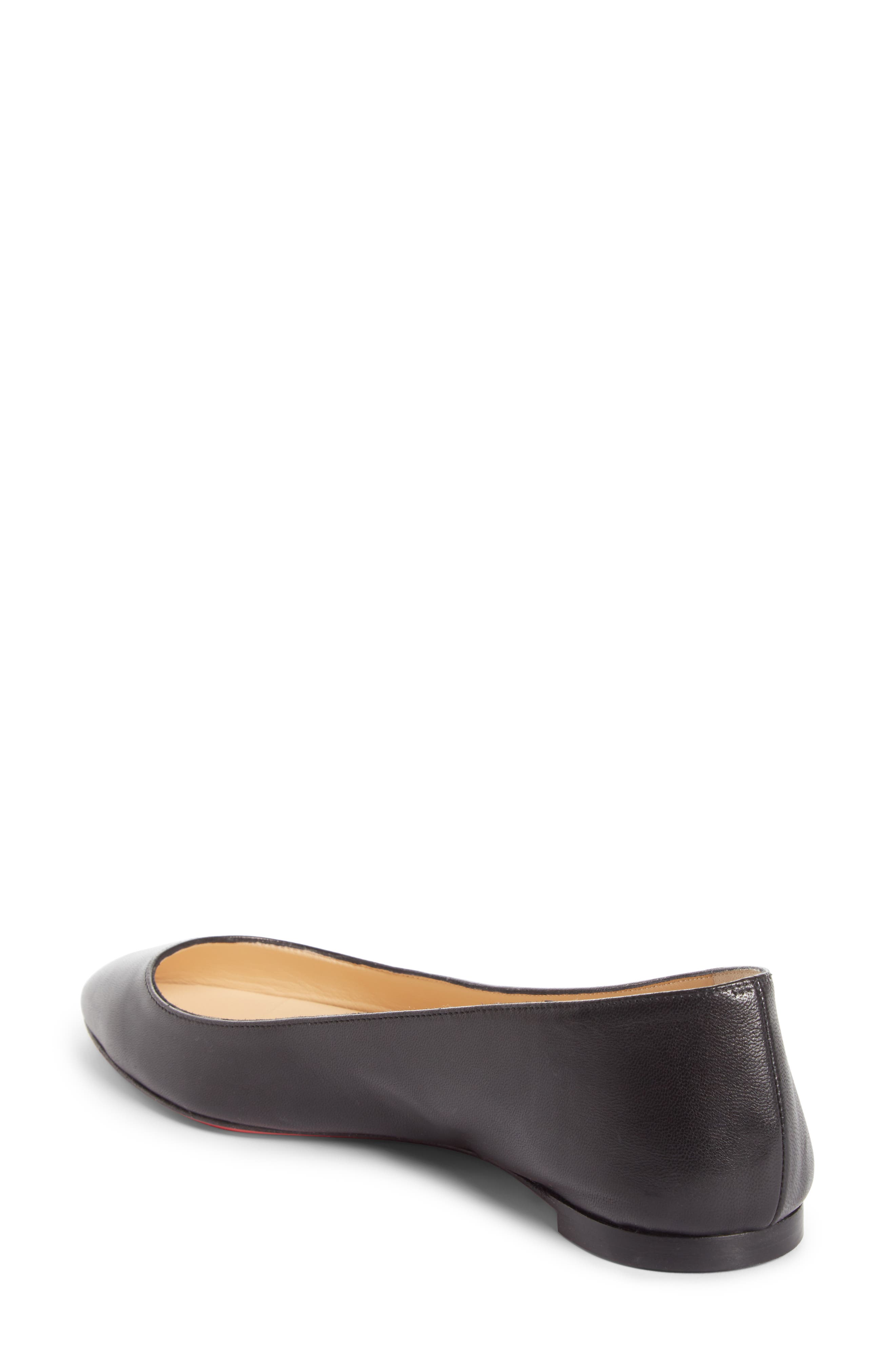 Eloise Flat,                             Alternate thumbnail 2, color,                             BLACK LEATHER