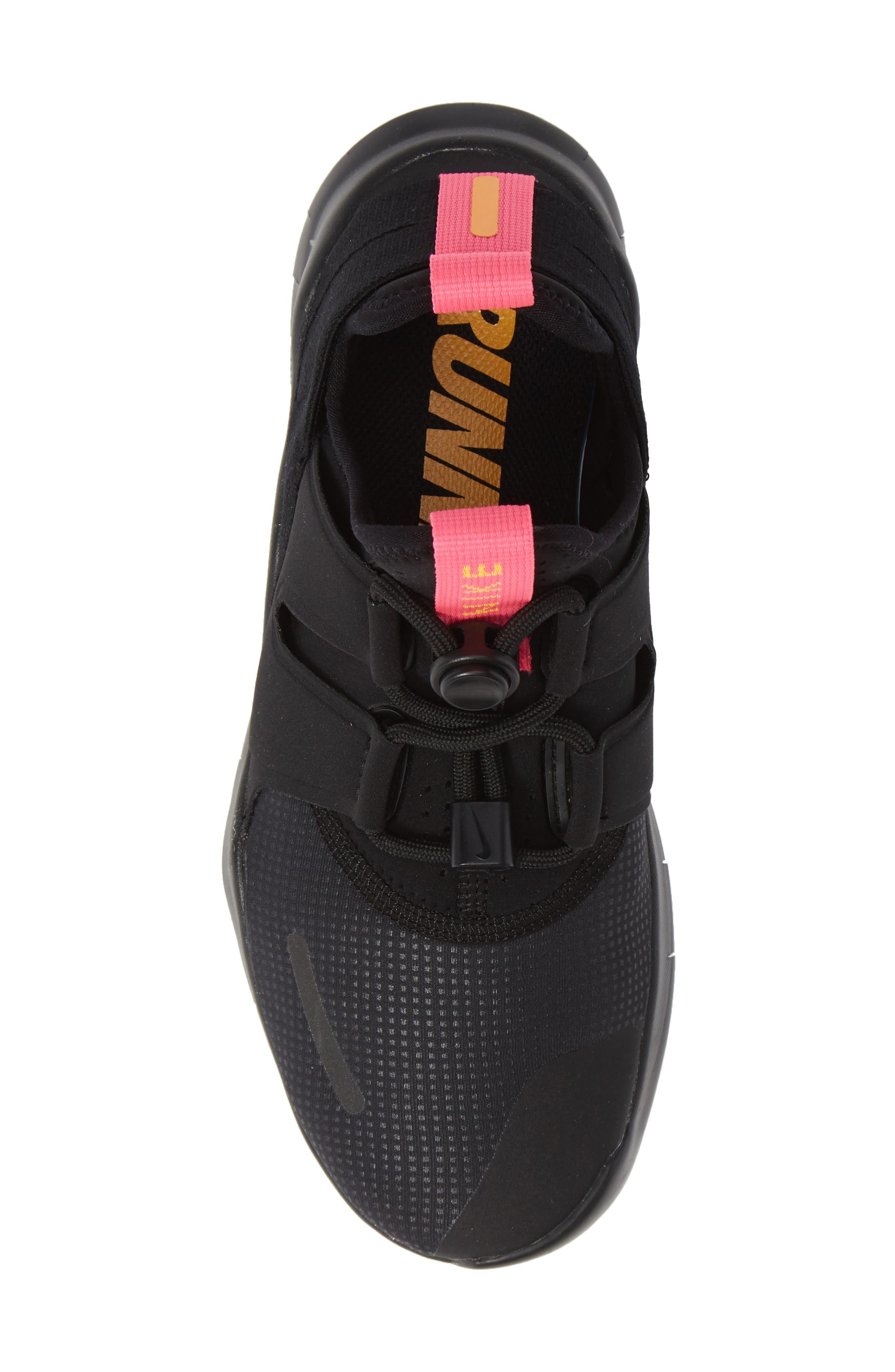 Free RN Commuter 2018 Running Shoe,                             Alternate thumbnail 5, color,                             BLACK/ PINK BLAST/ ORANGE