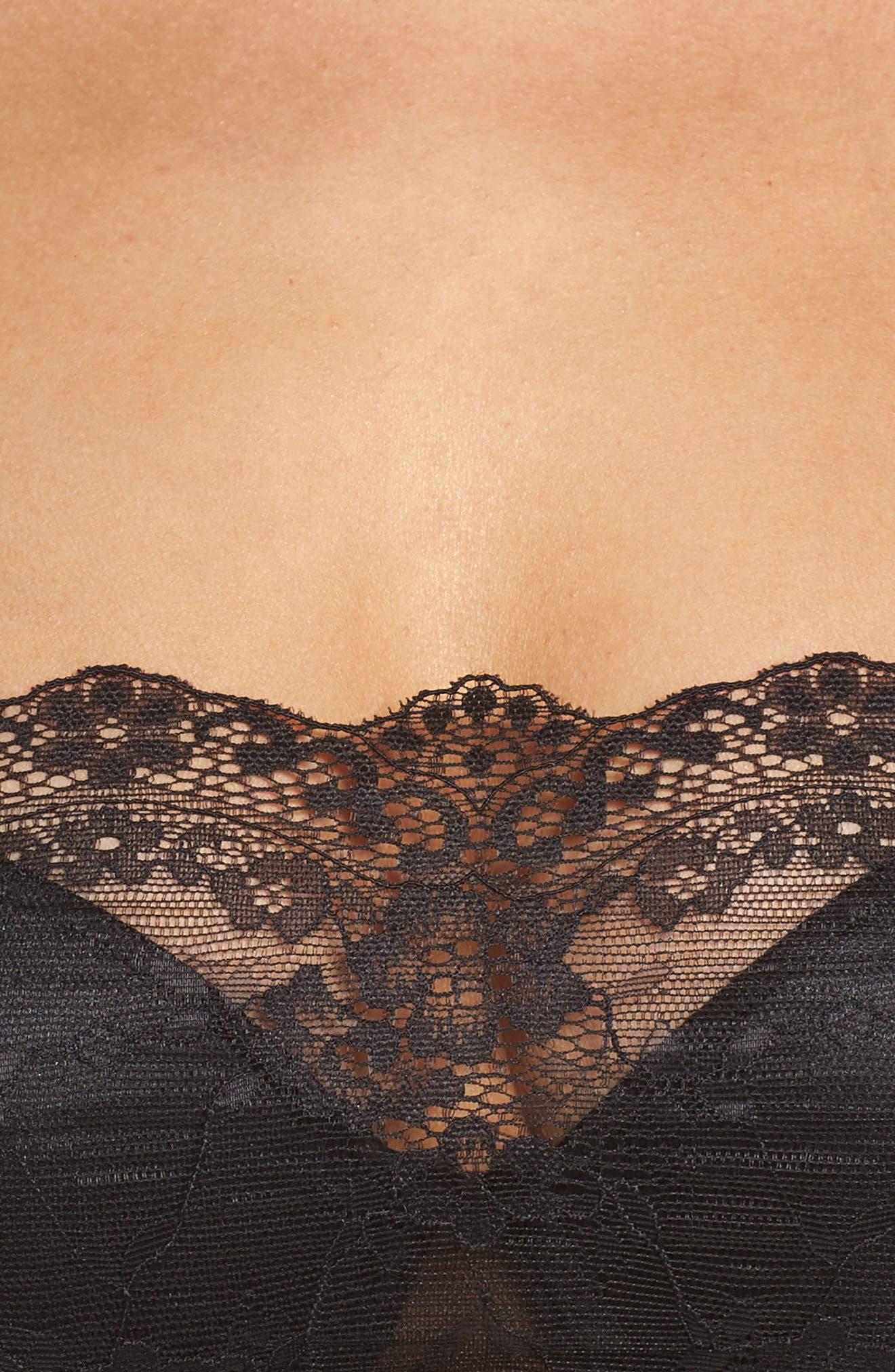 NORDSTROM LINGERIE,                             Backless Strapless Underwire Bandeau Bra,                             Alternate thumbnail 4, color,                             BLACK