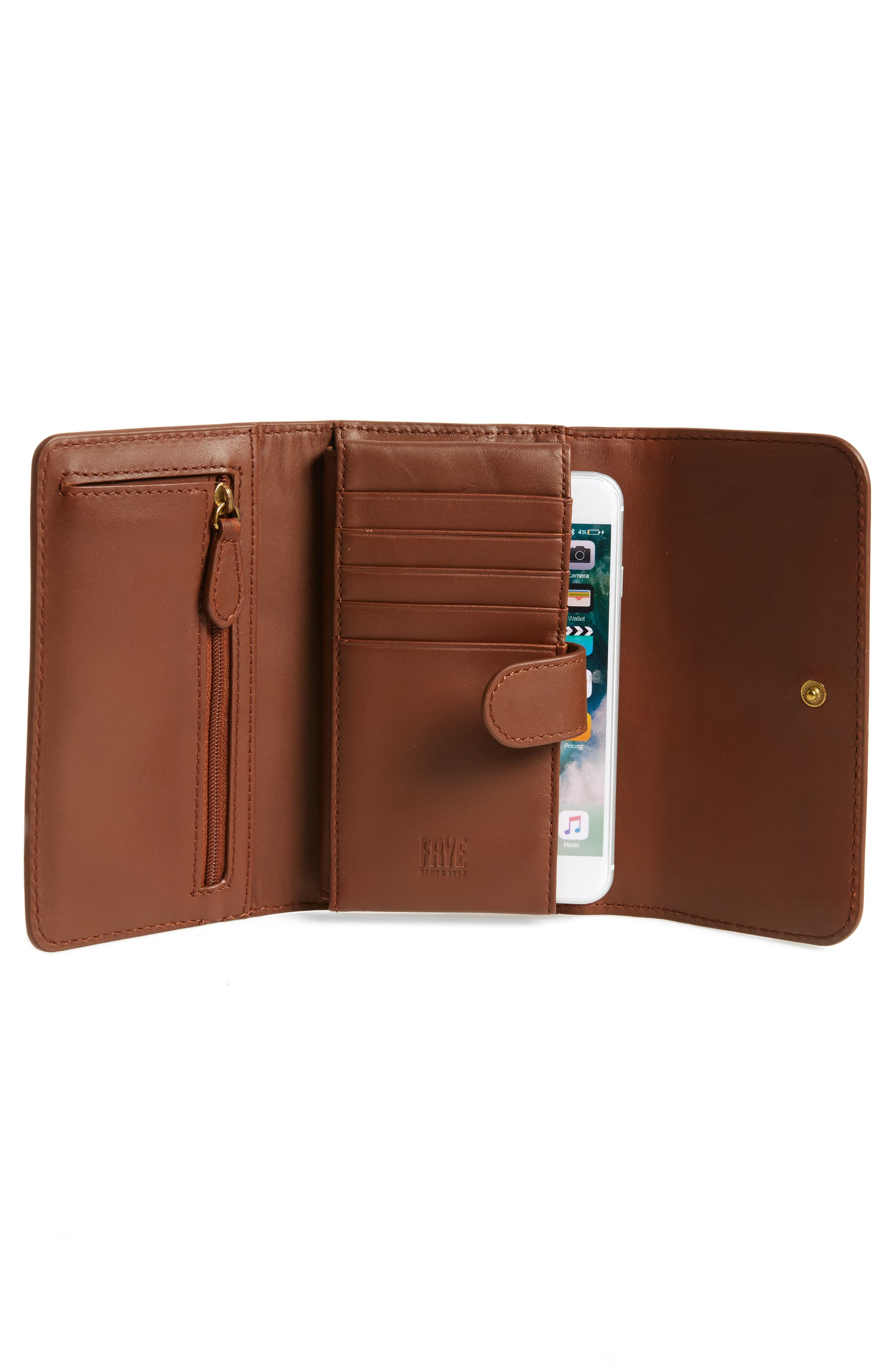 Campus Rivet Leather Smartphone Wallet with Crossbody Strap,                             Alternate thumbnail 11, color,