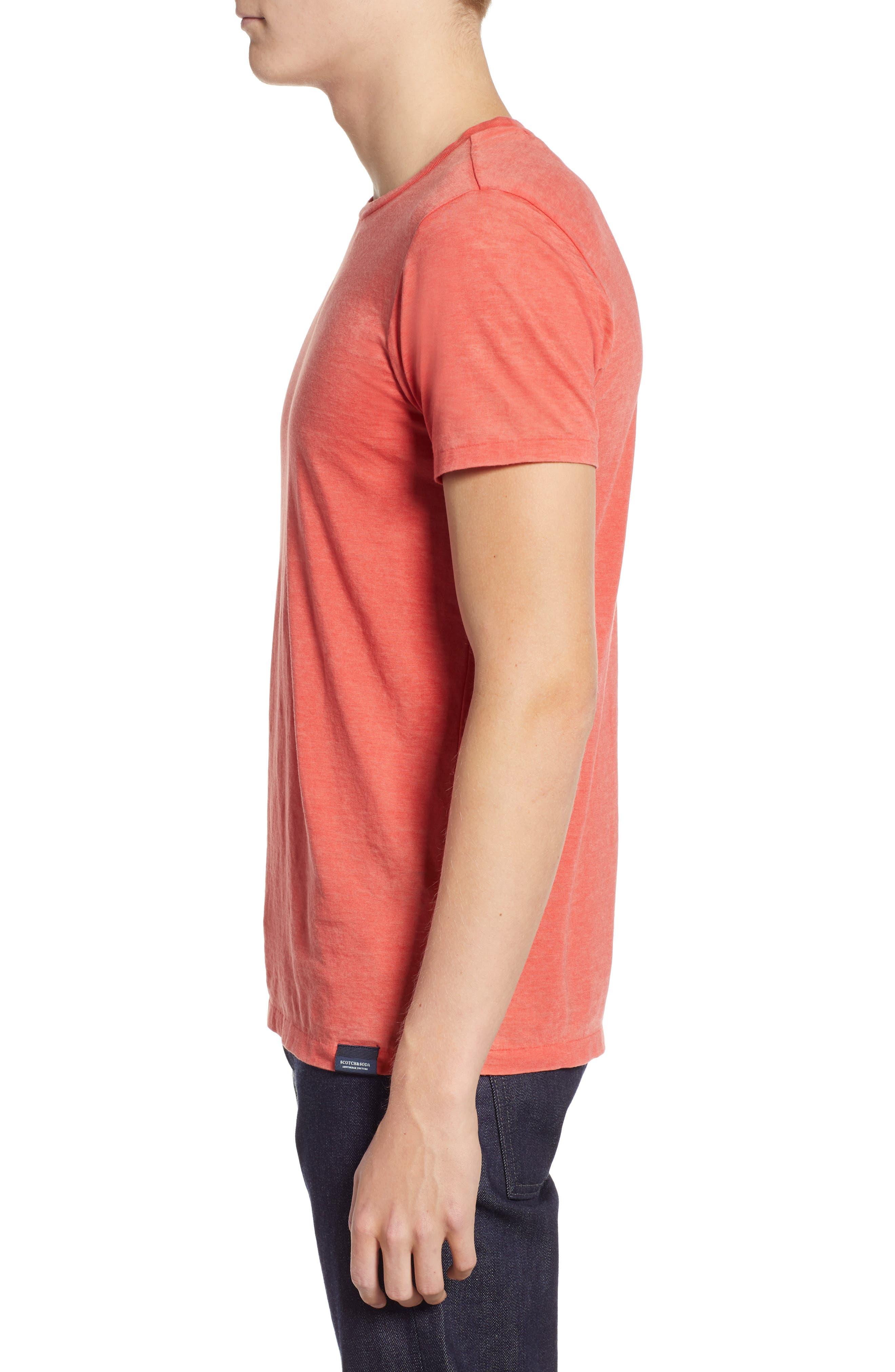 Burnout T-Shirt,                             Alternate thumbnail 3, color,                             RED MELANGE