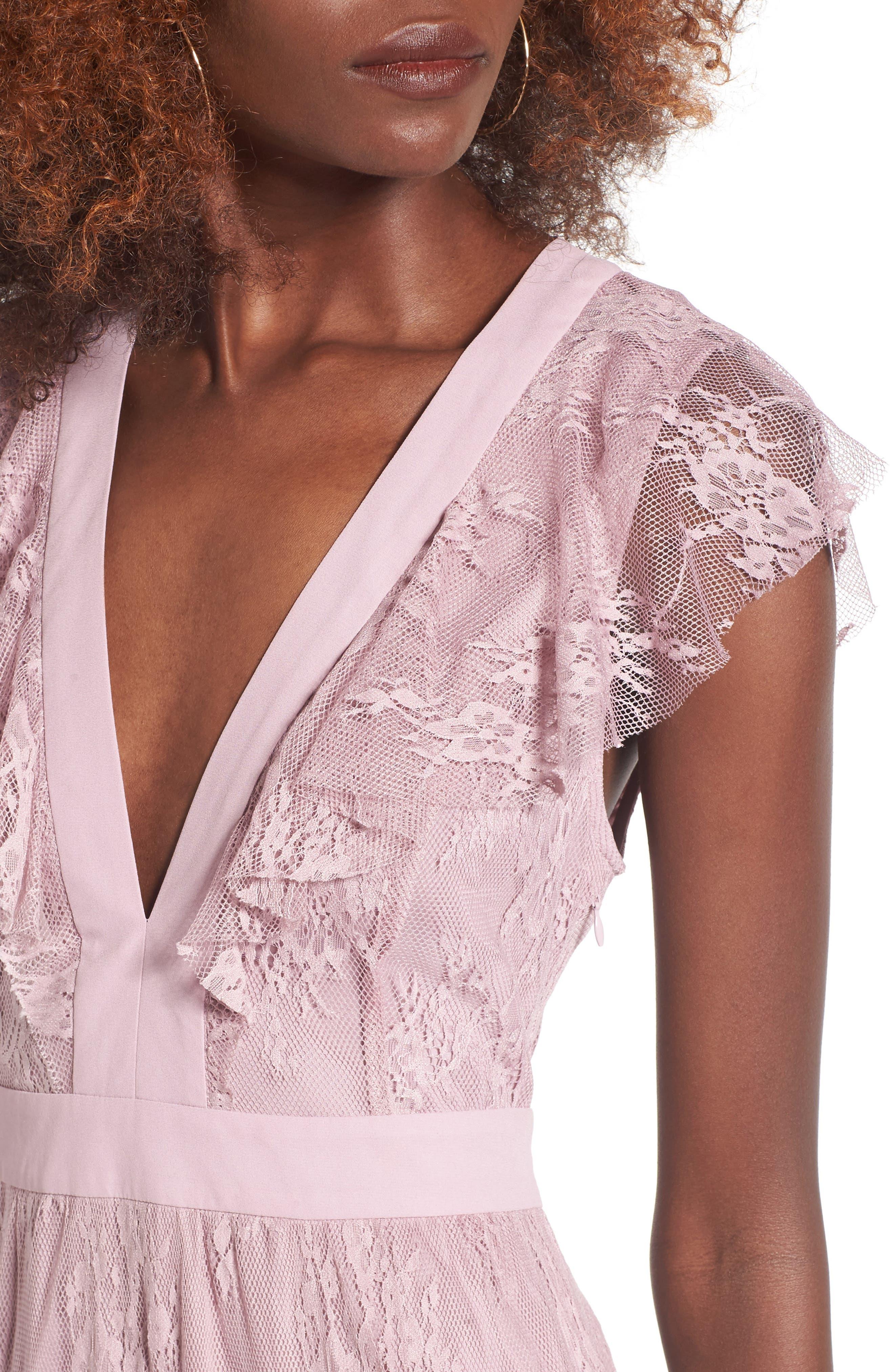 Hadley Lace Midi Dress,                             Alternate thumbnail 4, color,                             532