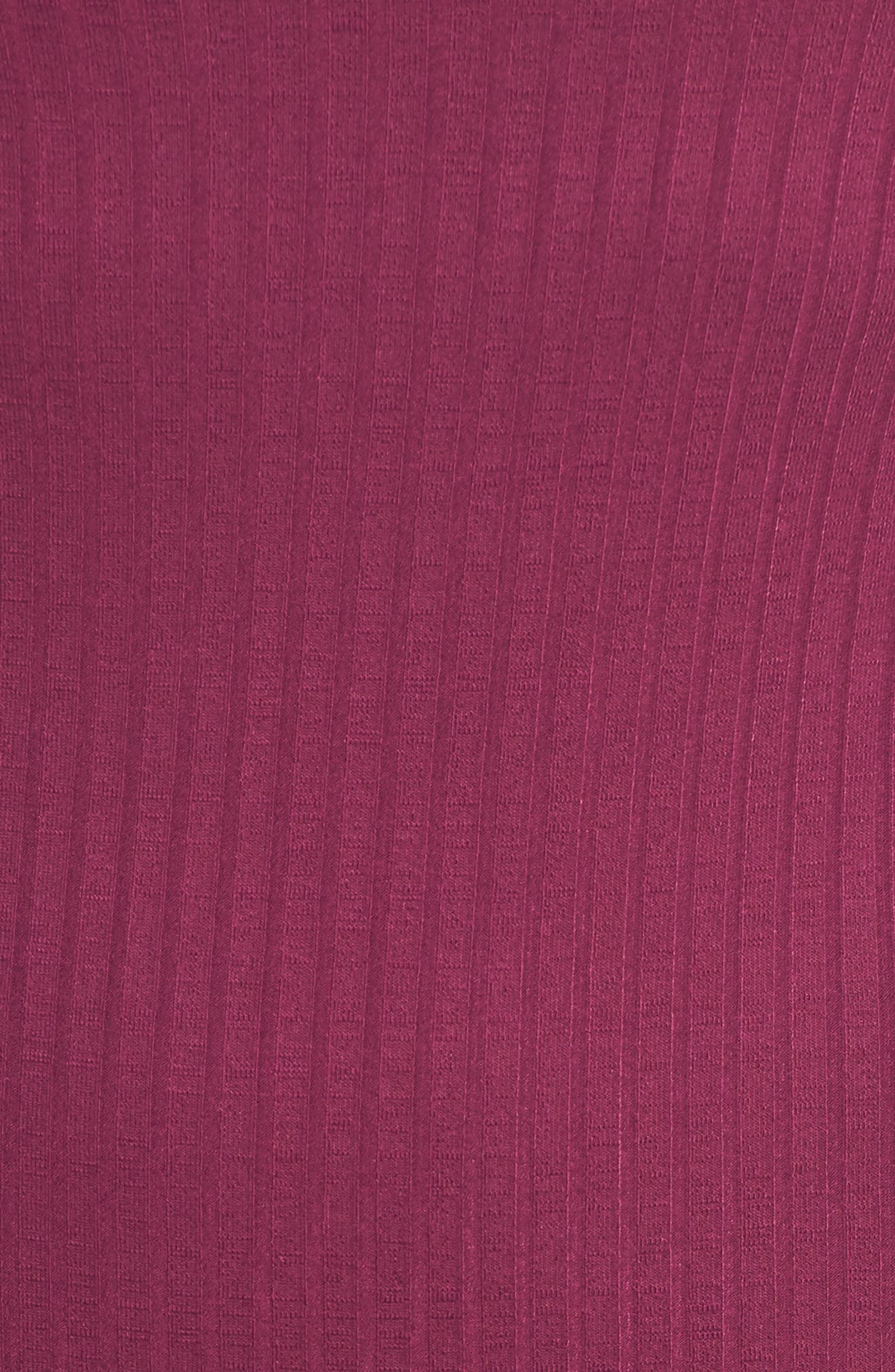 Ribbed Henley Midi Dress,                             Alternate thumbnail 6, color,                             PURPLE MAGENTA