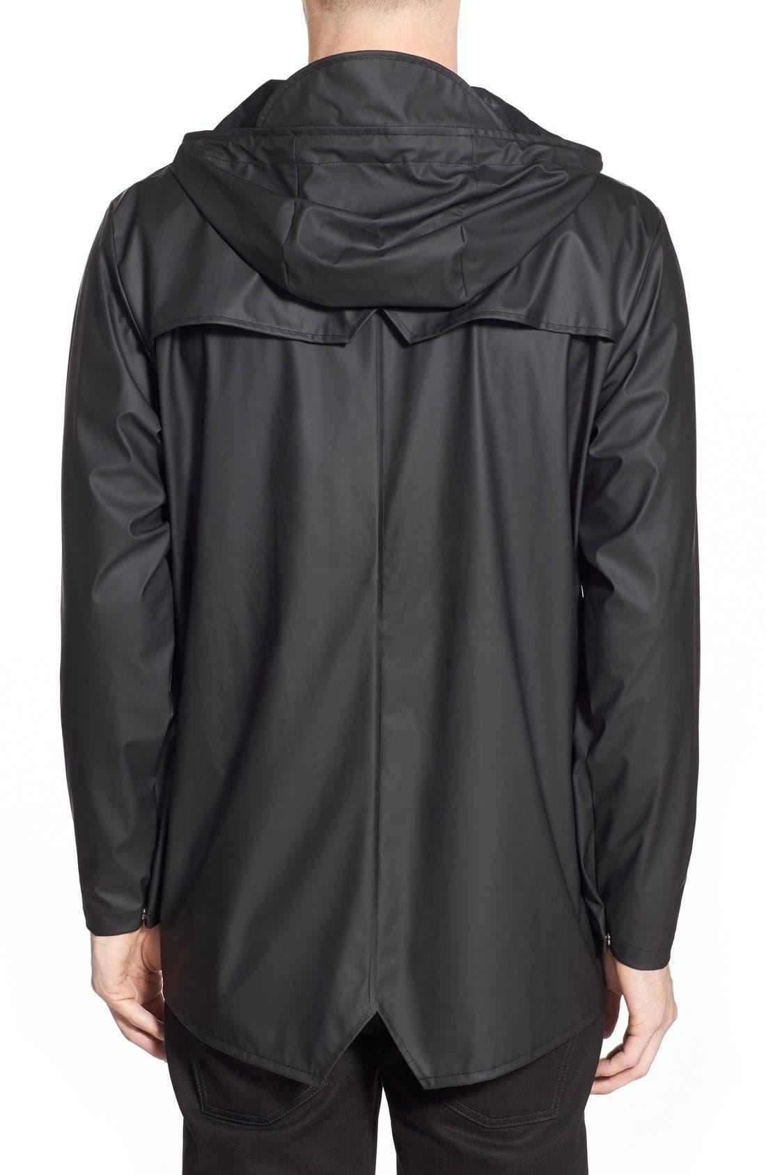 Lightweight Hooded Rain Jacket,                             Alternate thumbnail 2, color,                             BLACK