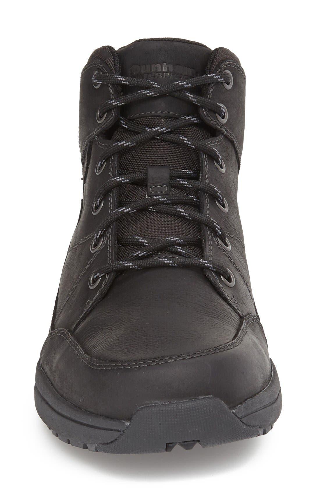 Simon-Dun Waterproof Boot,                             Alternate thumbnail 3, color,                             BLACK LEATHER