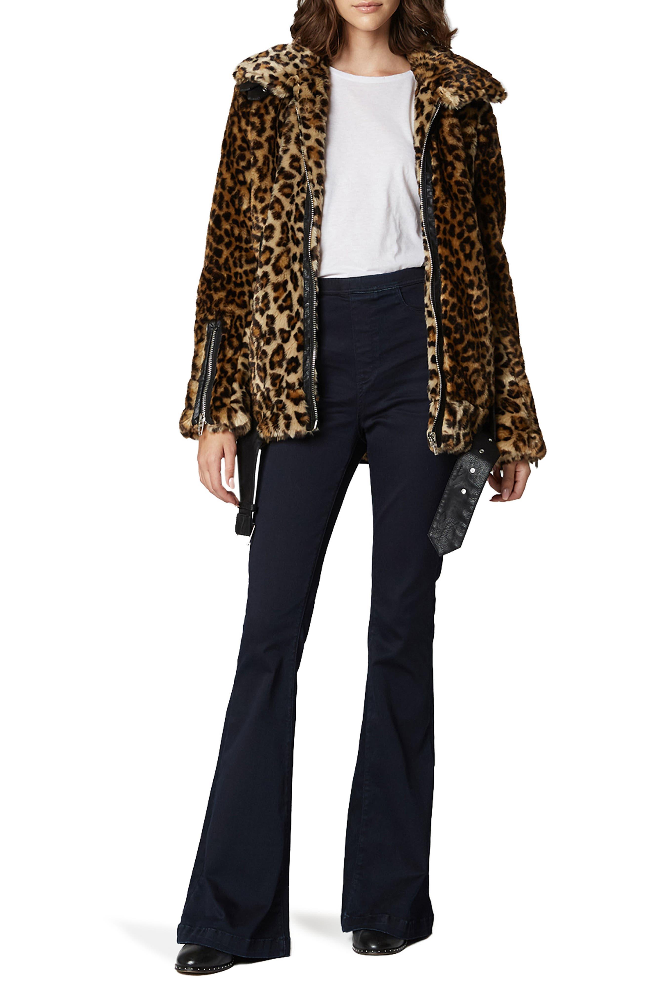 Leopard Faux Fur Jacket,                             Alternate thumbnail 4, color,                             NOTE TO SELF
